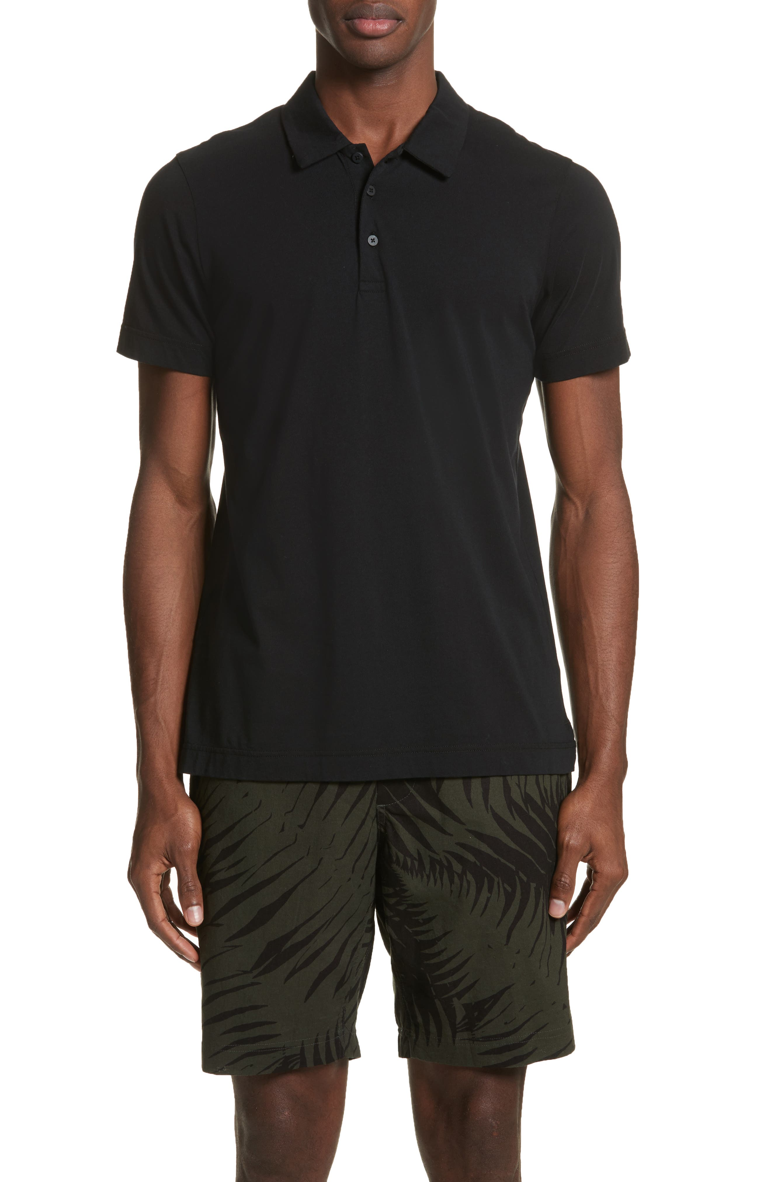 wings + horns Short Sleeve Polo Shirt