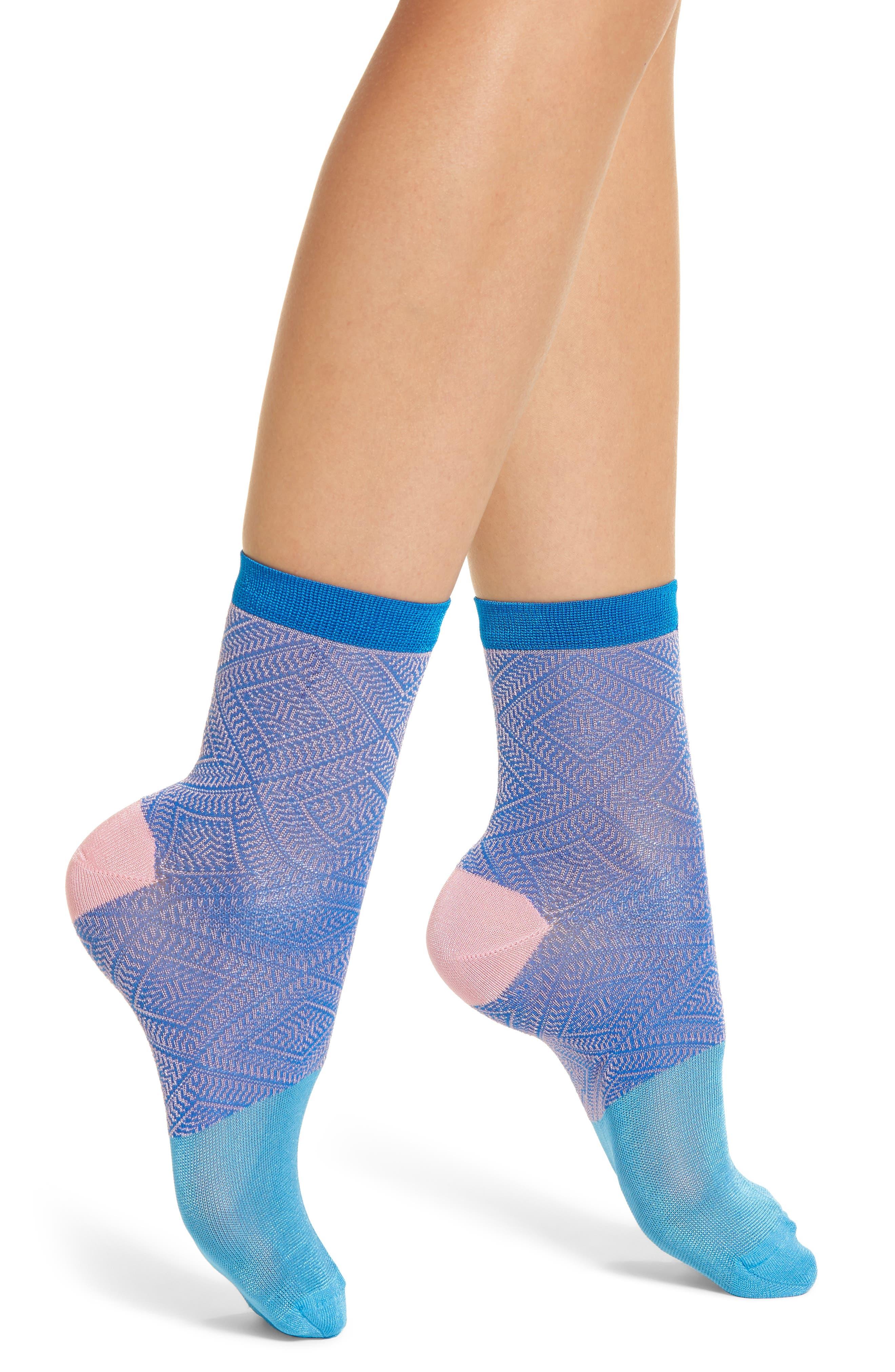 Jill Ankle Socks,                         Main,                         color, Blue