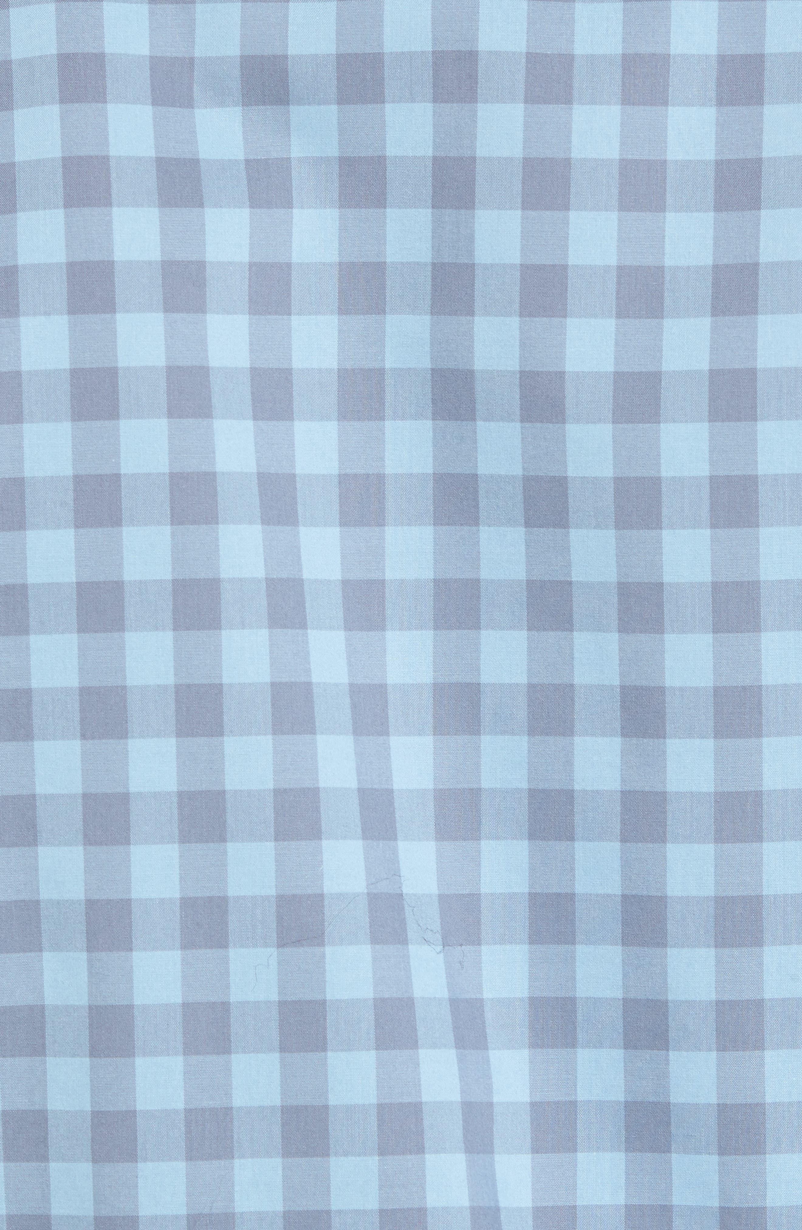 Regular Fit Gingham Sport Shirt,                             Alternate thumbnail 5, color,                             Blue Dusk Grey Gingham