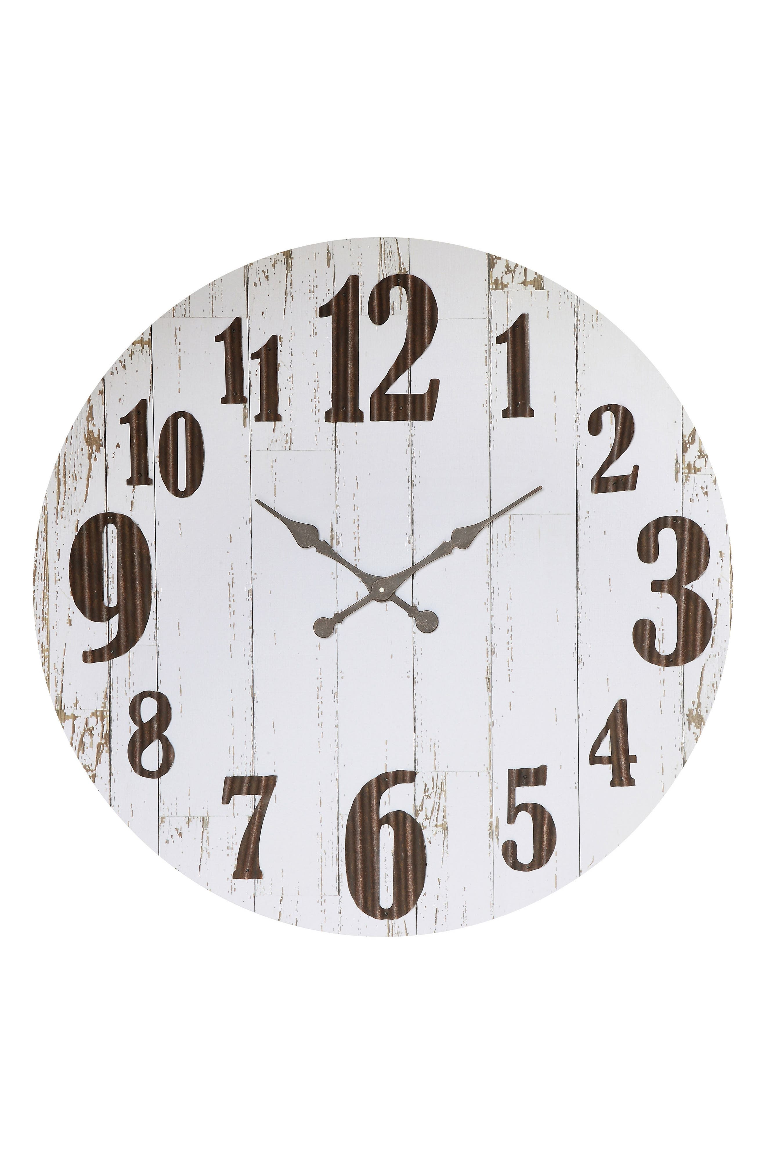 Large Wall Clock,                         Main,                         color, White