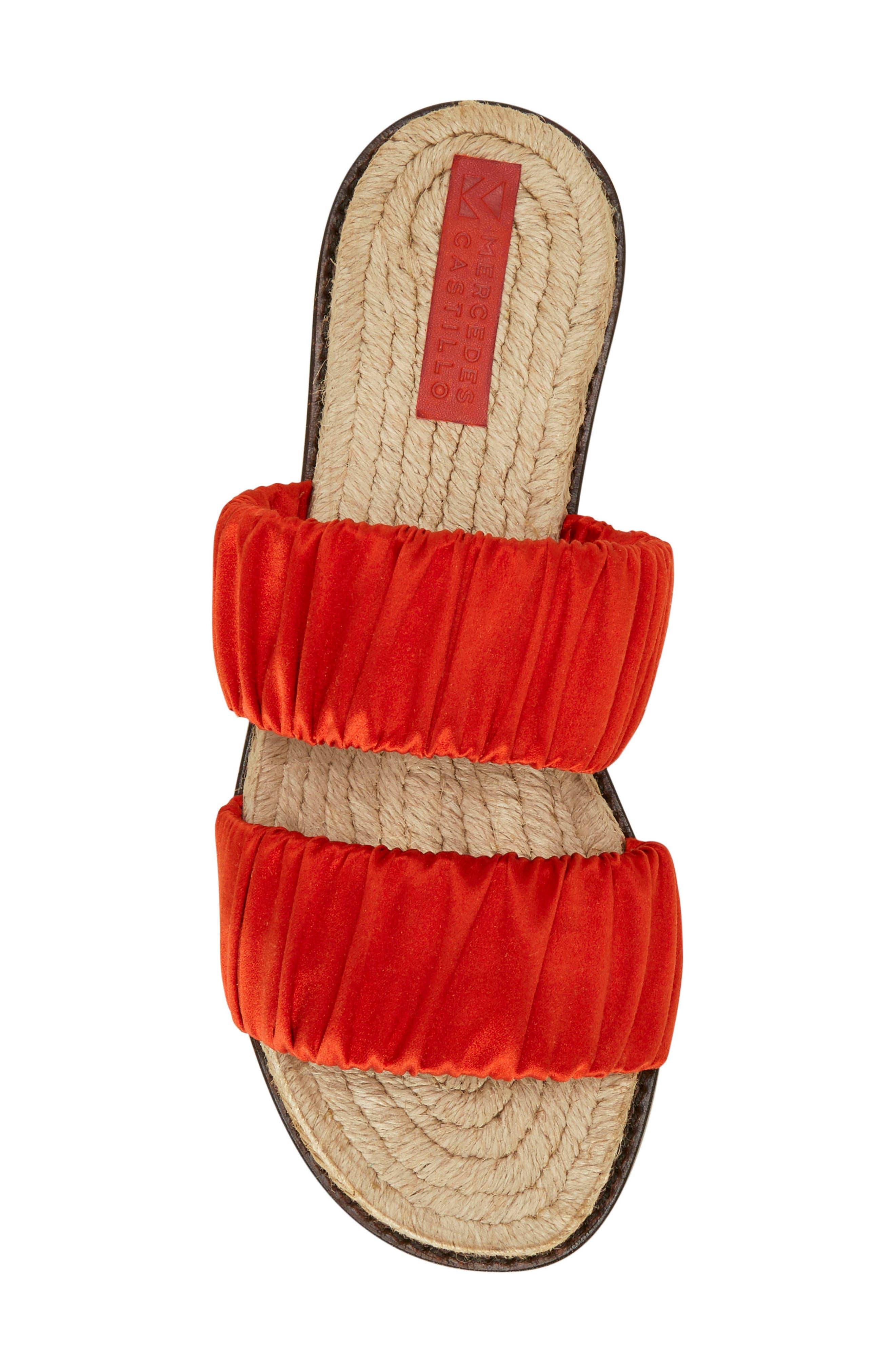 Espadrille Sandal,                             Alternate thumbnail 4, color,                             Red Tulip