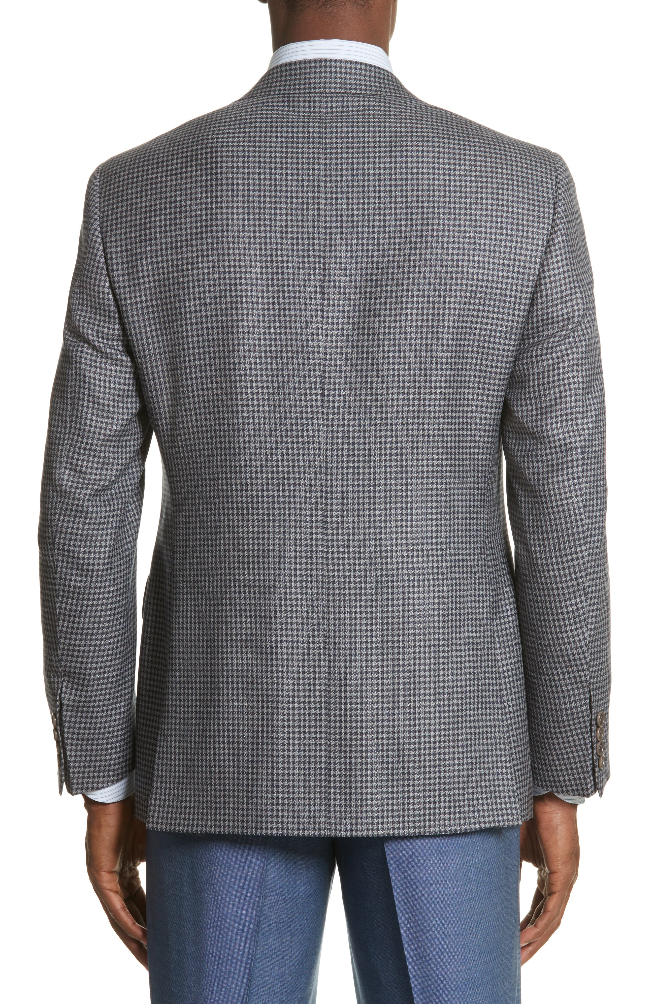 Alternate Image 2  - Canali Classic Fit Houndstooth Wool Sport Coat