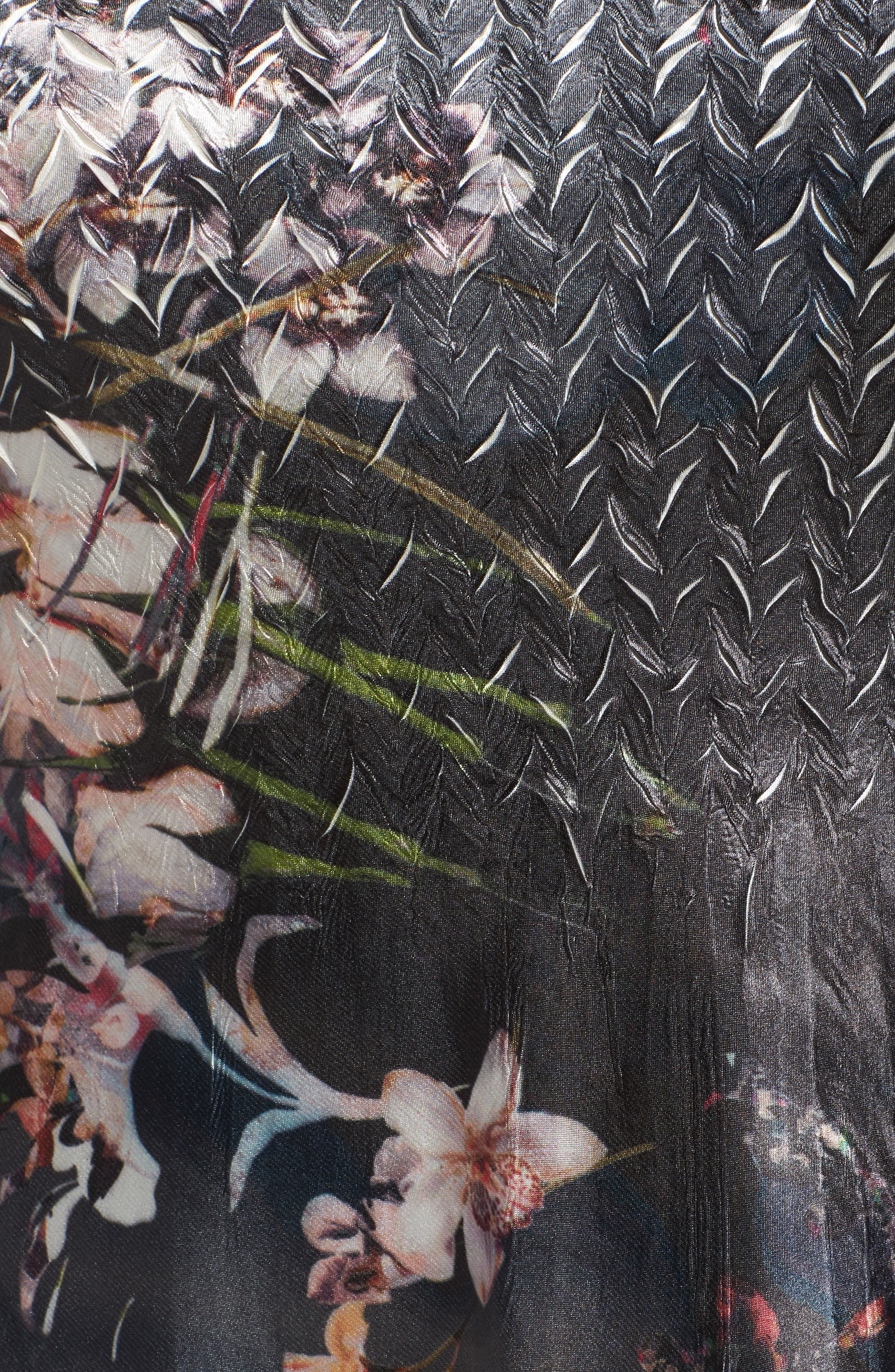 Alternate Image 5  - Komarov Lace Inset Floral Chiffon A-Line Dress (Plus Size)