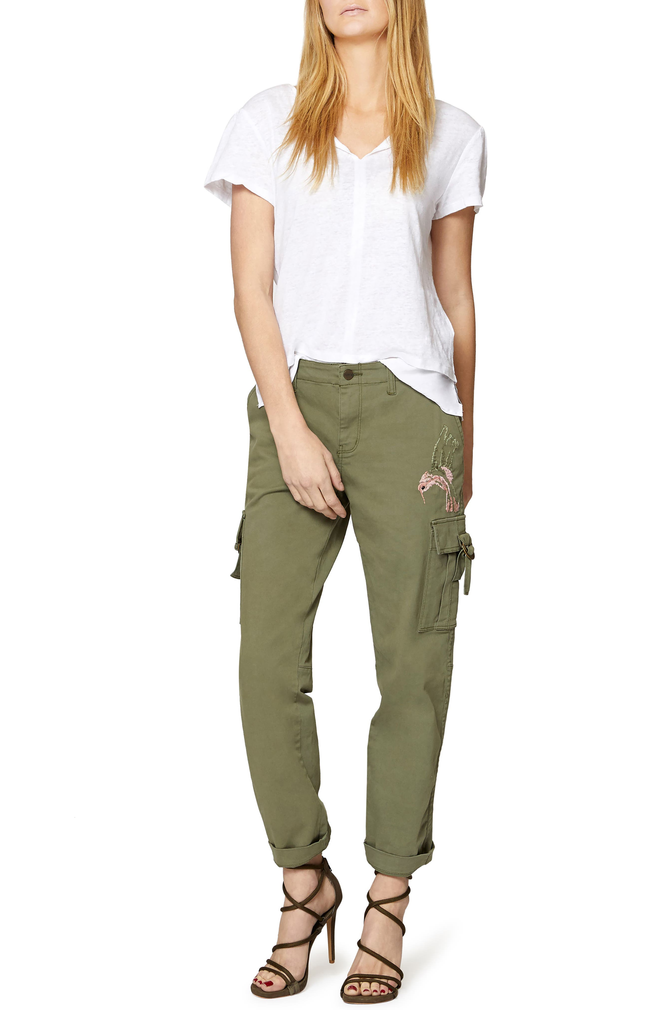 Legionnaire with Hummingbird Embroidery Pants,                             Alternate thumbnail 3, color,                             Cadet