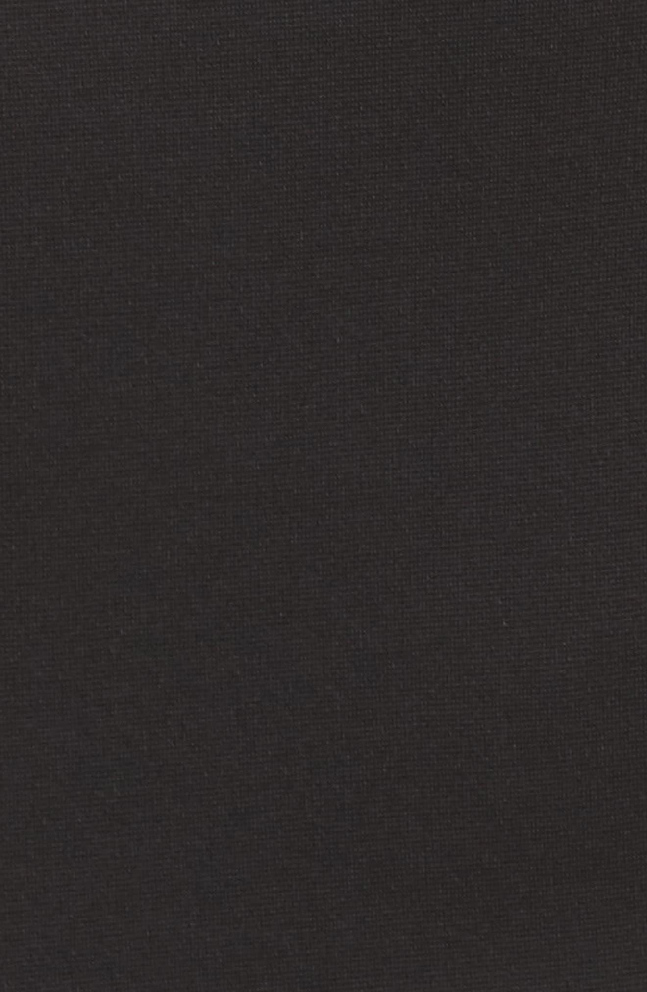 Lola Crossback Jersey Halter Gown,                             Alternate thumbnail 5, color,                             Black