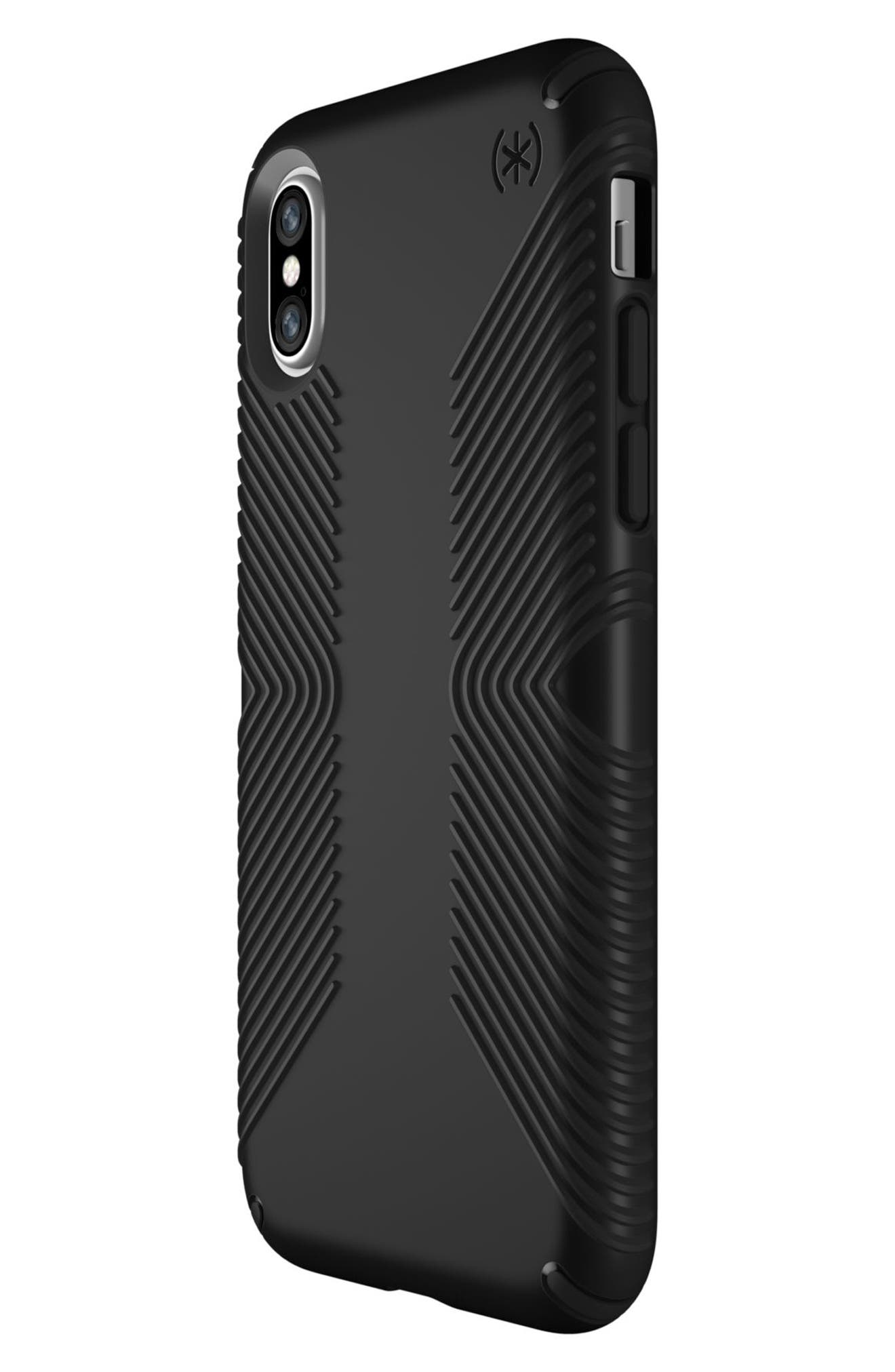 iPhone X Case,                             Alternate thumbnail 3, color,                             Black/ Black