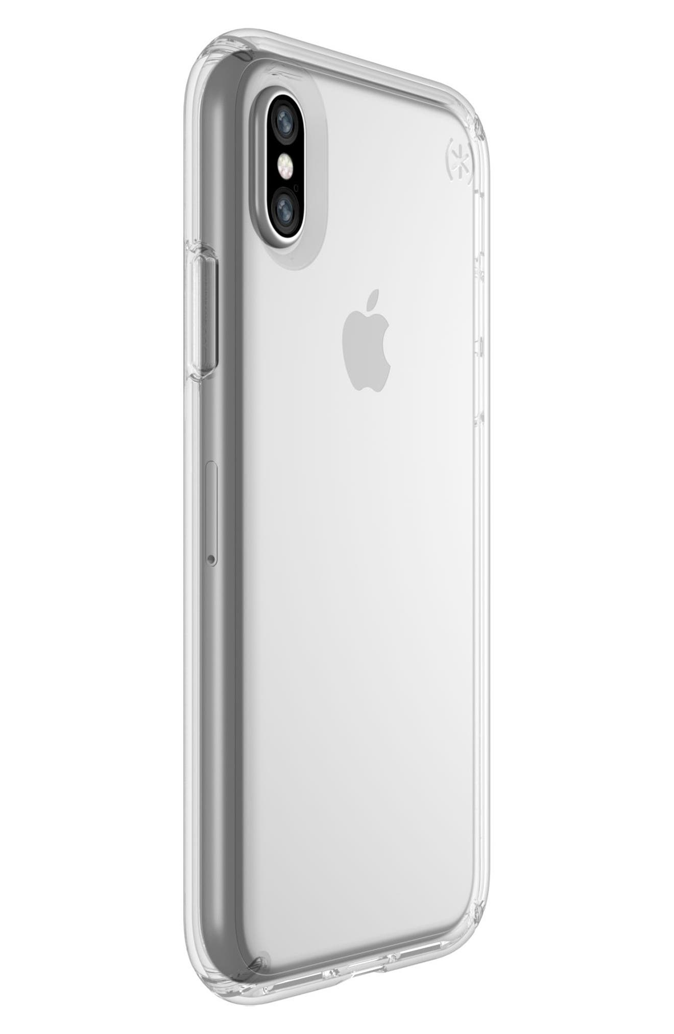 Transparent iPhone X Case,                             Alternate thumbnail 2, color,                             Clear/ Clear