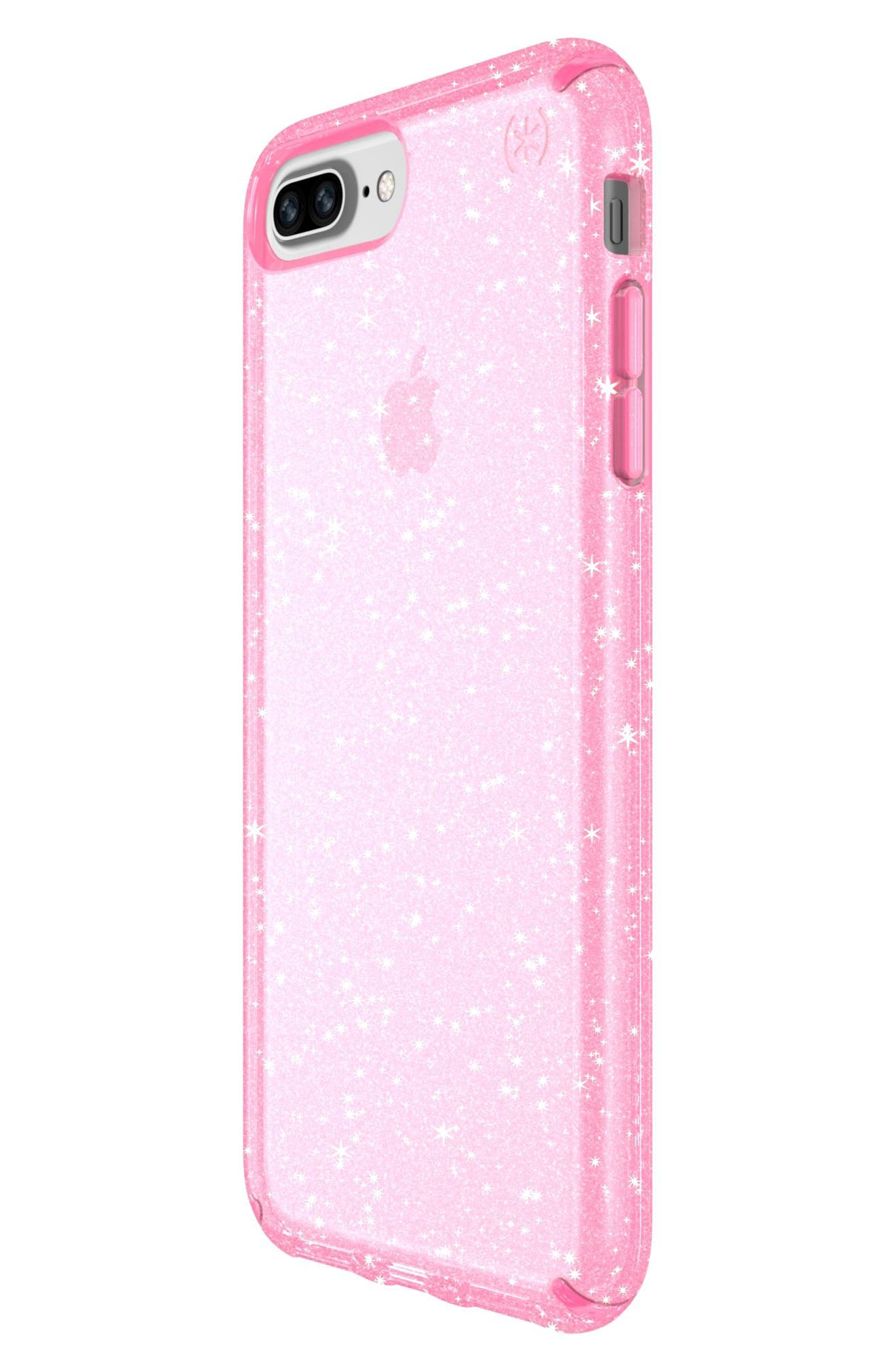 iPhone 6/6s/7/8 Plus Case,                             Alternate thumbnail 3, color,                             Bella Pink Gold Glitter/ Pink
