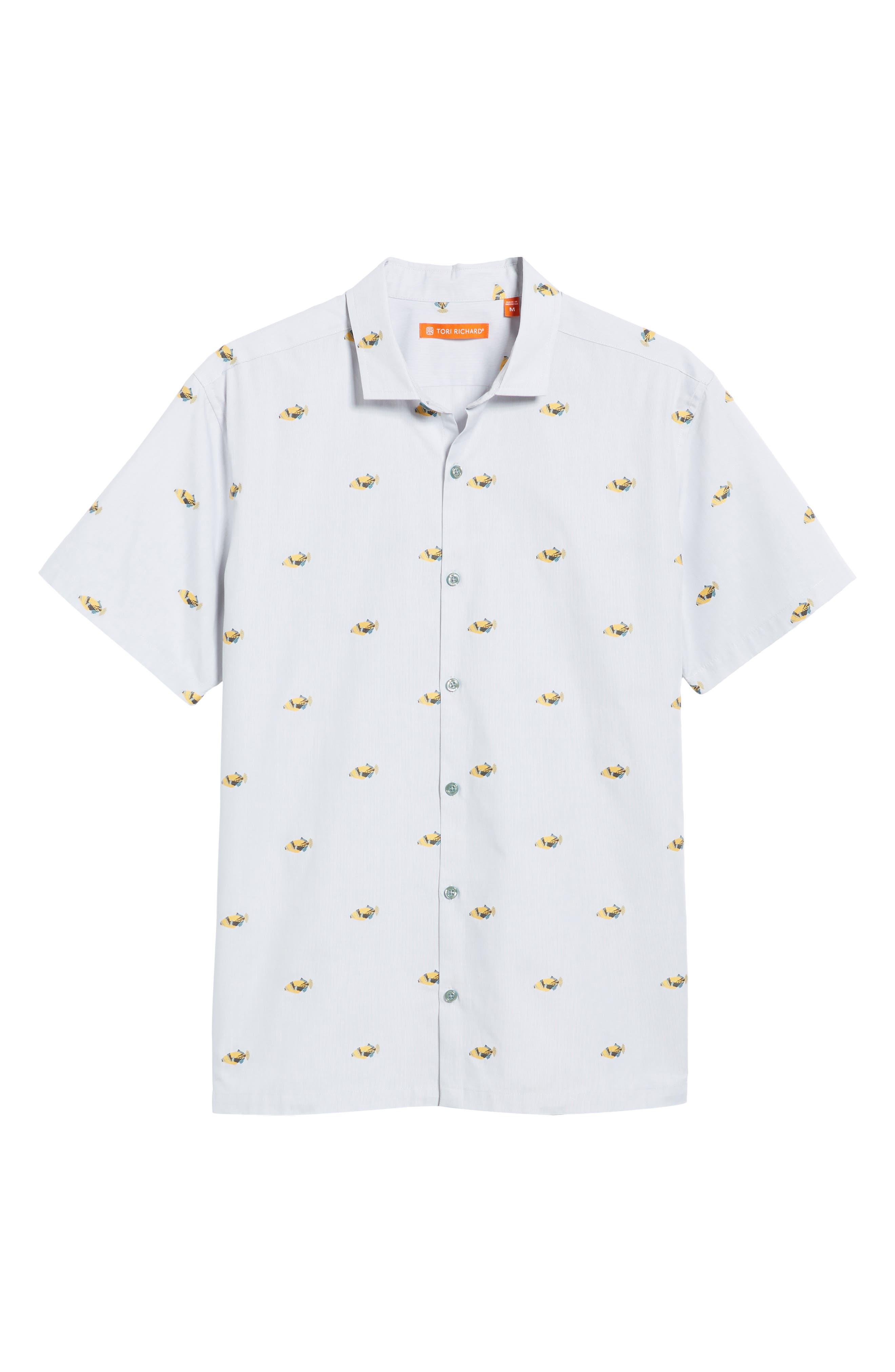 Alternate Image 6  - Tori Richard 1Humu 2Humu Embroidered Sport Shirt