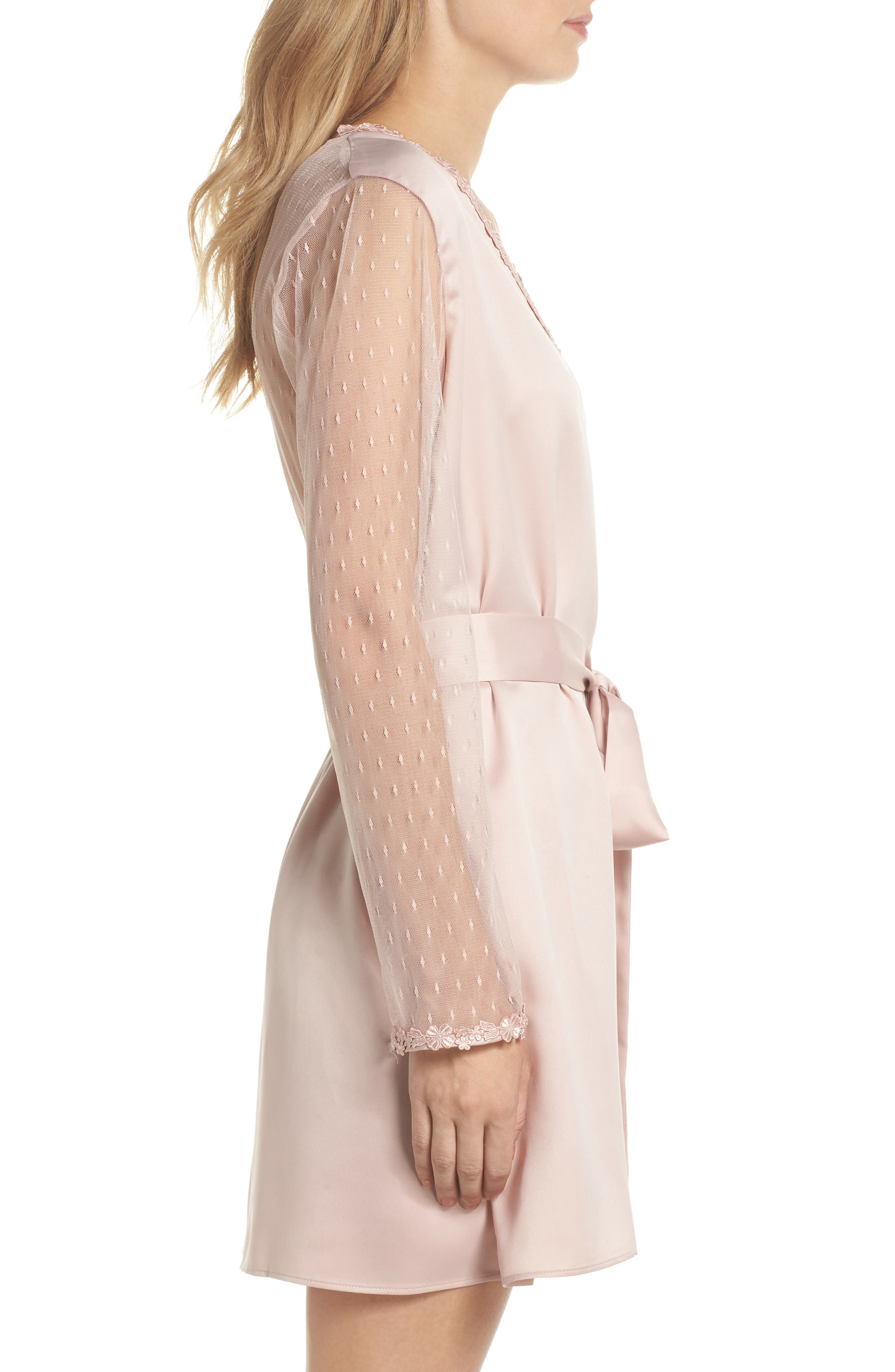 Showstopper Robe,                             Alternate thumbnail 3, color,                             Shell Pink