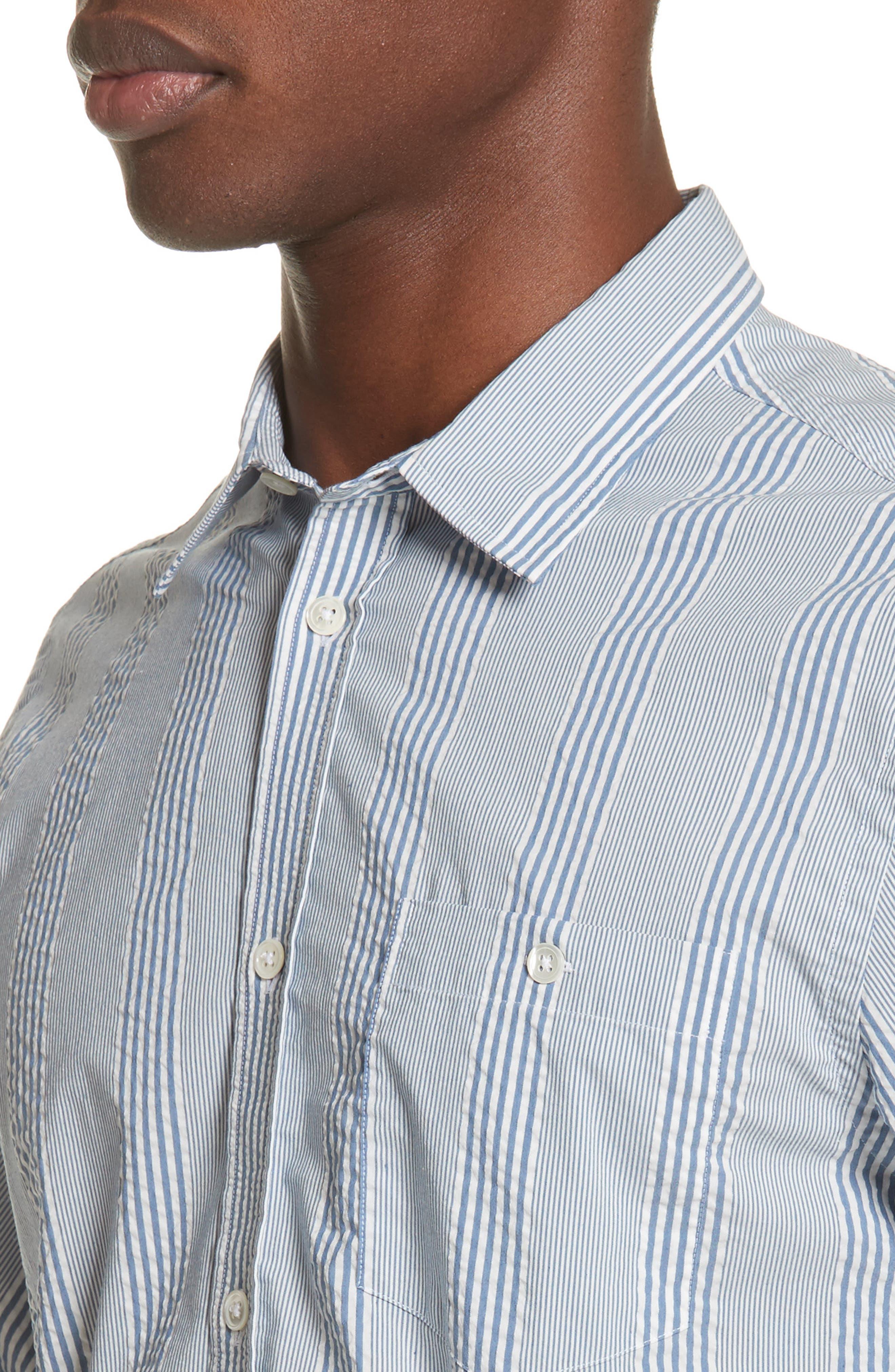 Osvald Seersucker Shirt,                             Alternate thumbnail 2, color,                             Luminous Blue