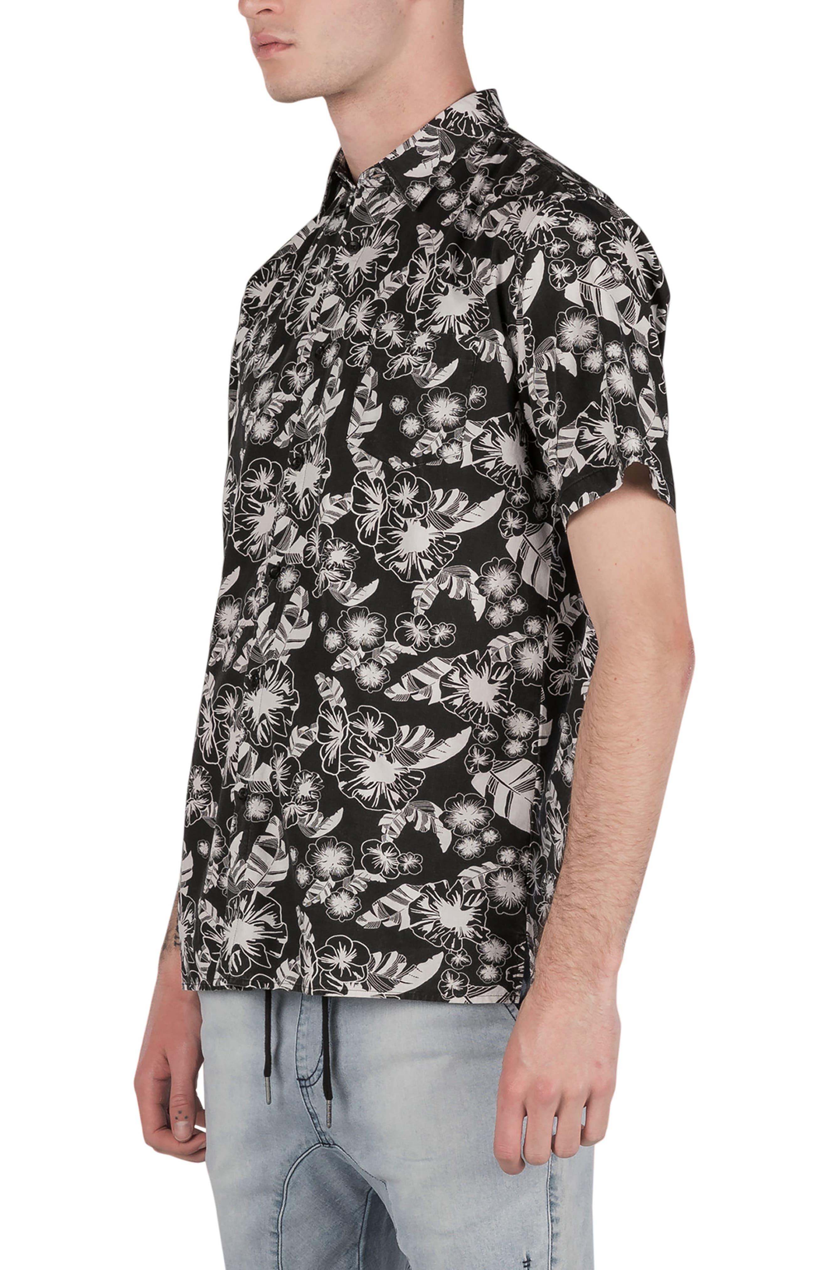 Kahuna Box Shirt,                             Alternate thumbnail 4, color,                             Black