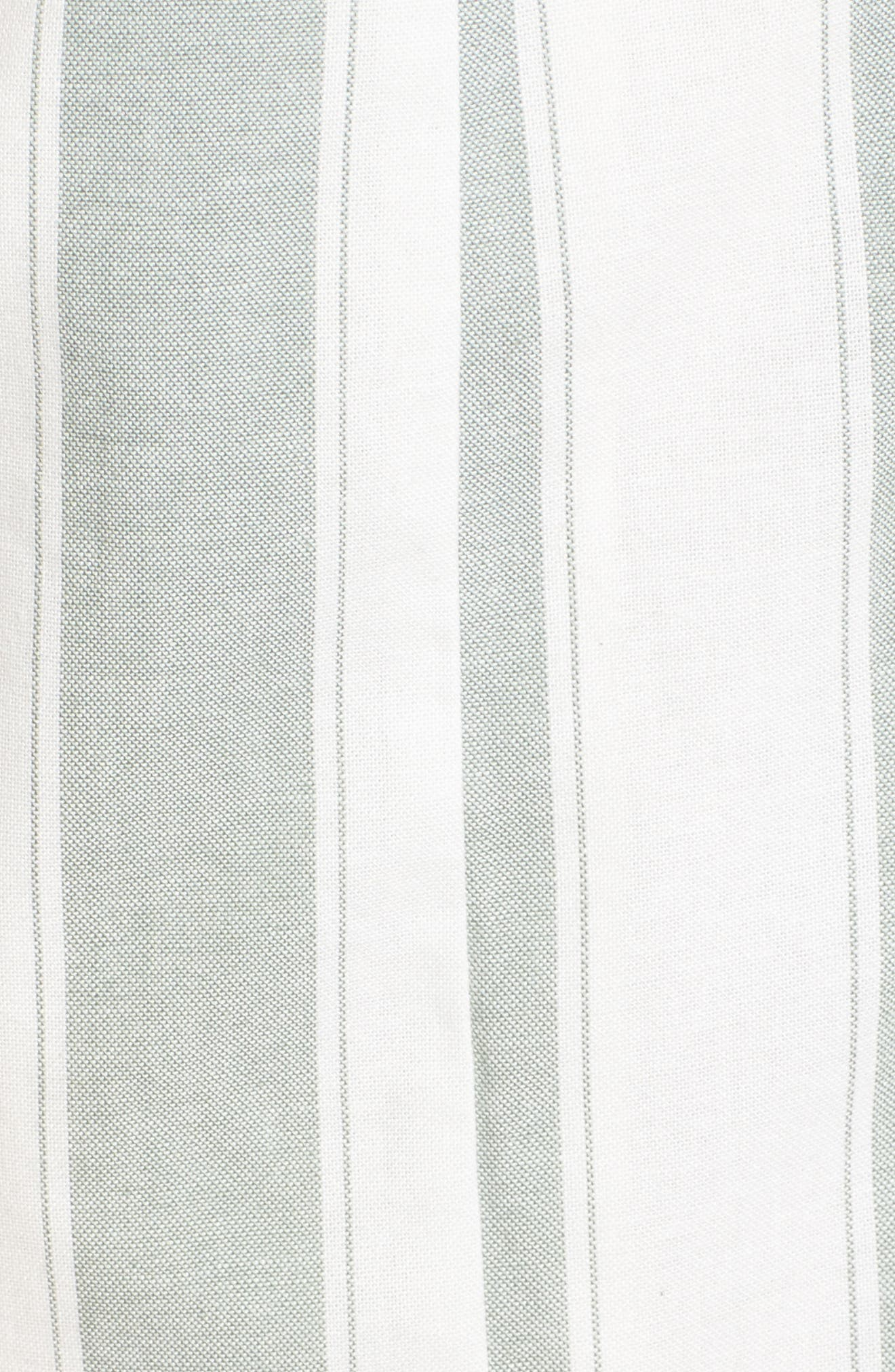 Poetic Stripe Sundress,                             Alternate thumbnail 6, color,                             Sage W White