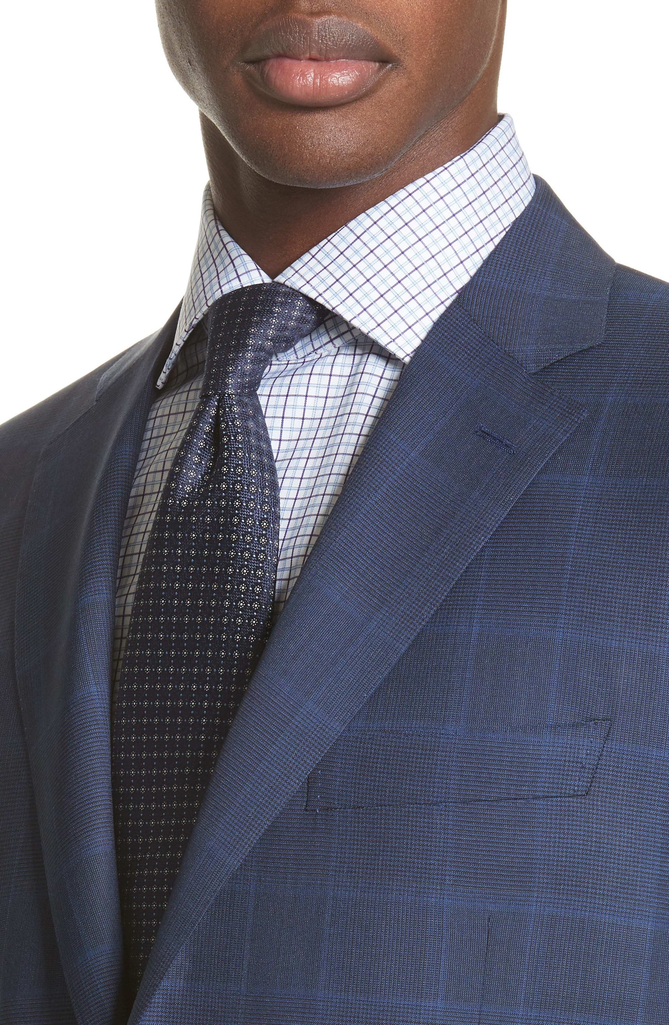 Alternate Image 4  - Canali Classic Fit Plaid Wool Suit