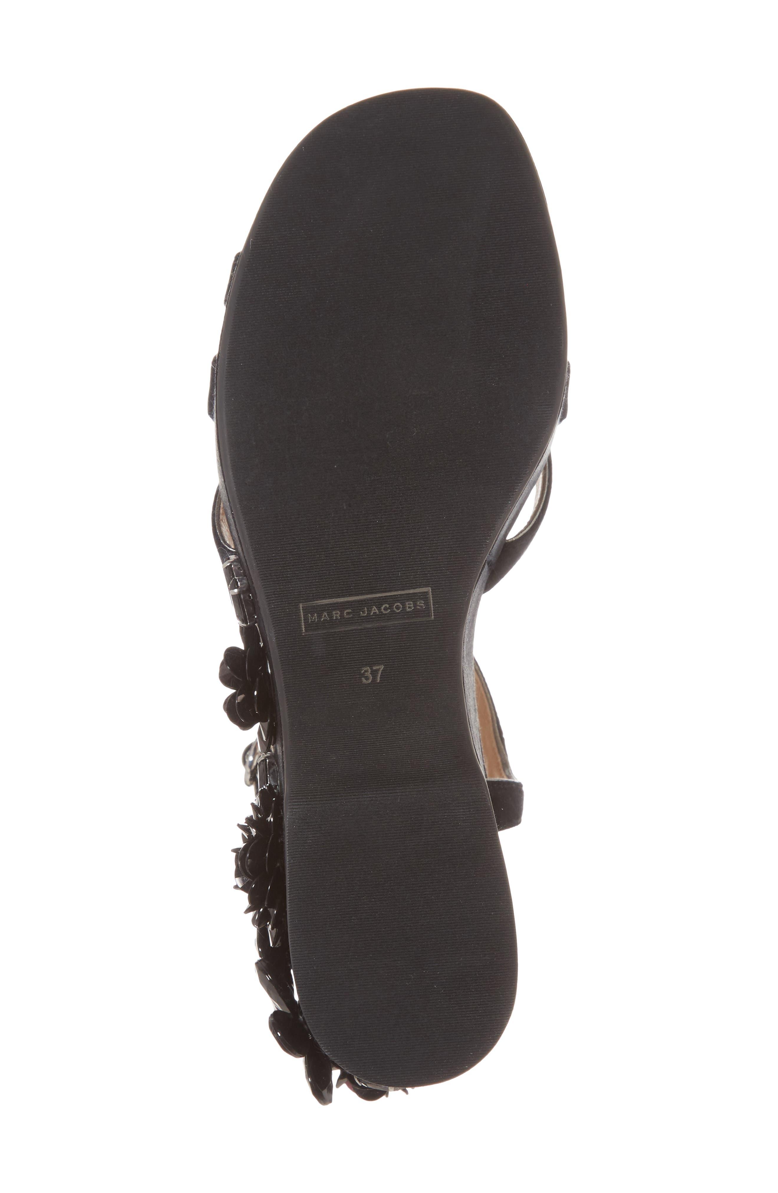 Callie Embellished Platform Sandal,                             Alternate thumbnail 6, color,                             Black