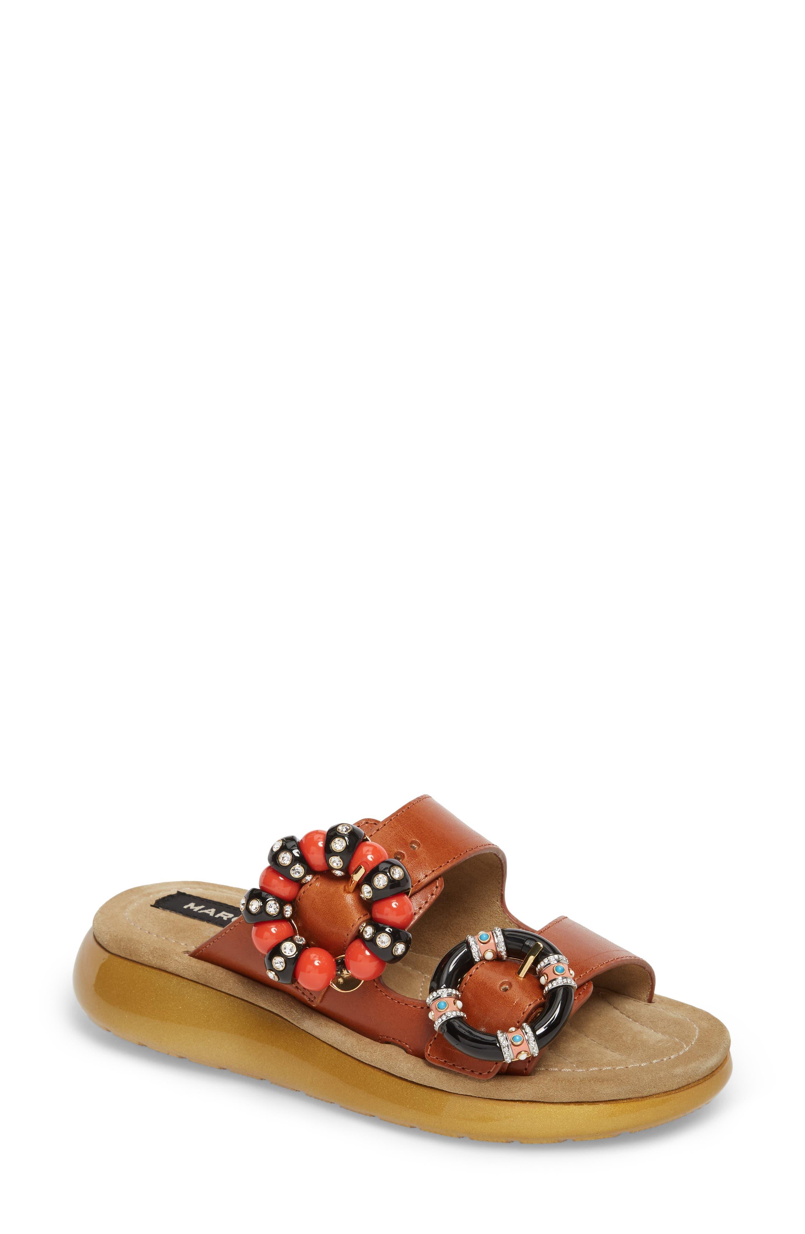 MARC JACOBS Sage Embellished Slide Sandal (Women)