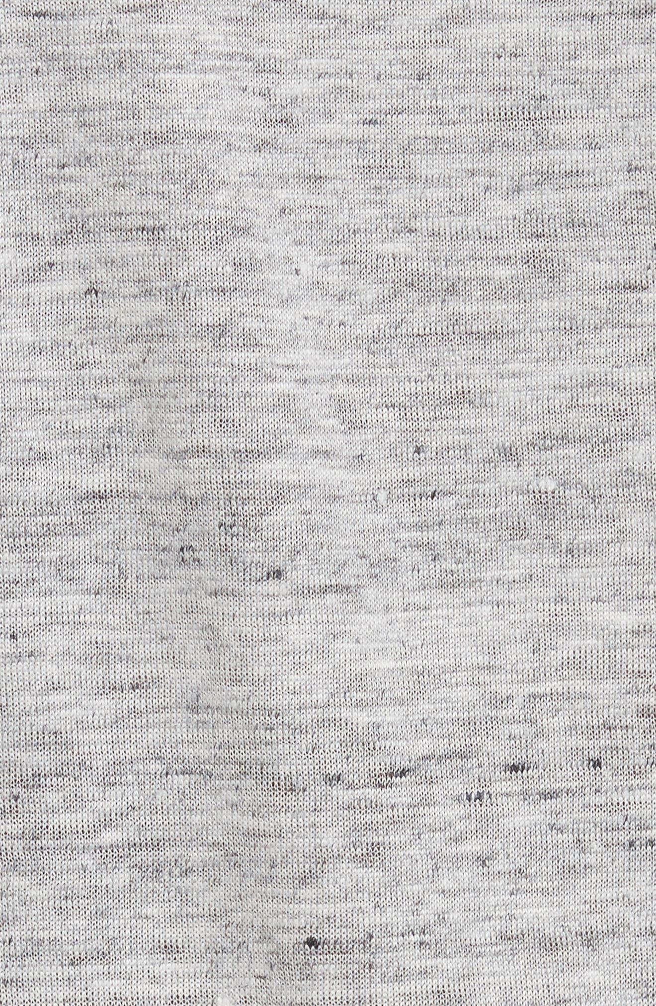 Dede Linen Tee,                             Alternate thumbnail 5, color,                             Light Grey