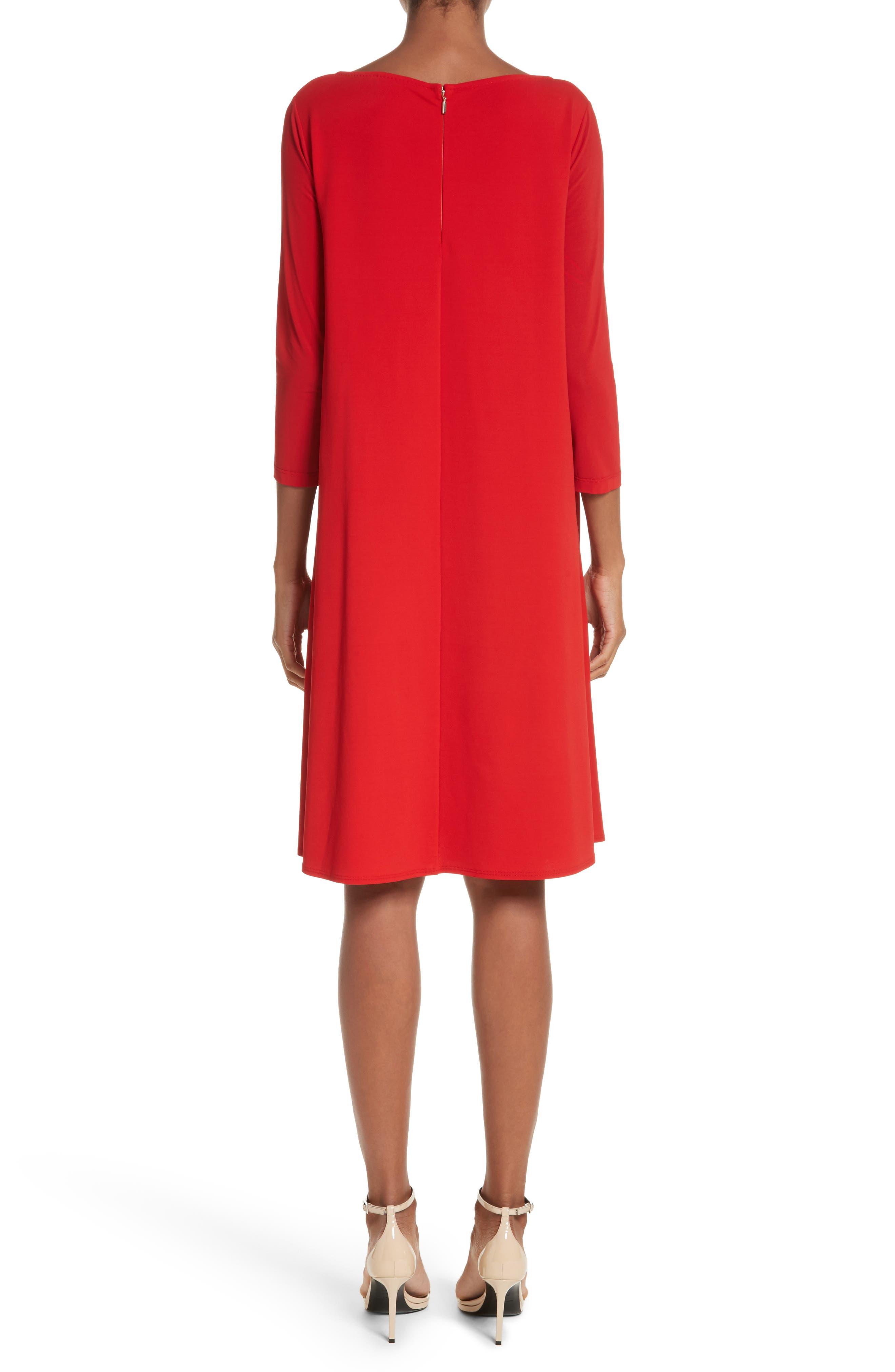 Pigna Swing Dress,                             Alternate thumbnail 2, color,                             Red