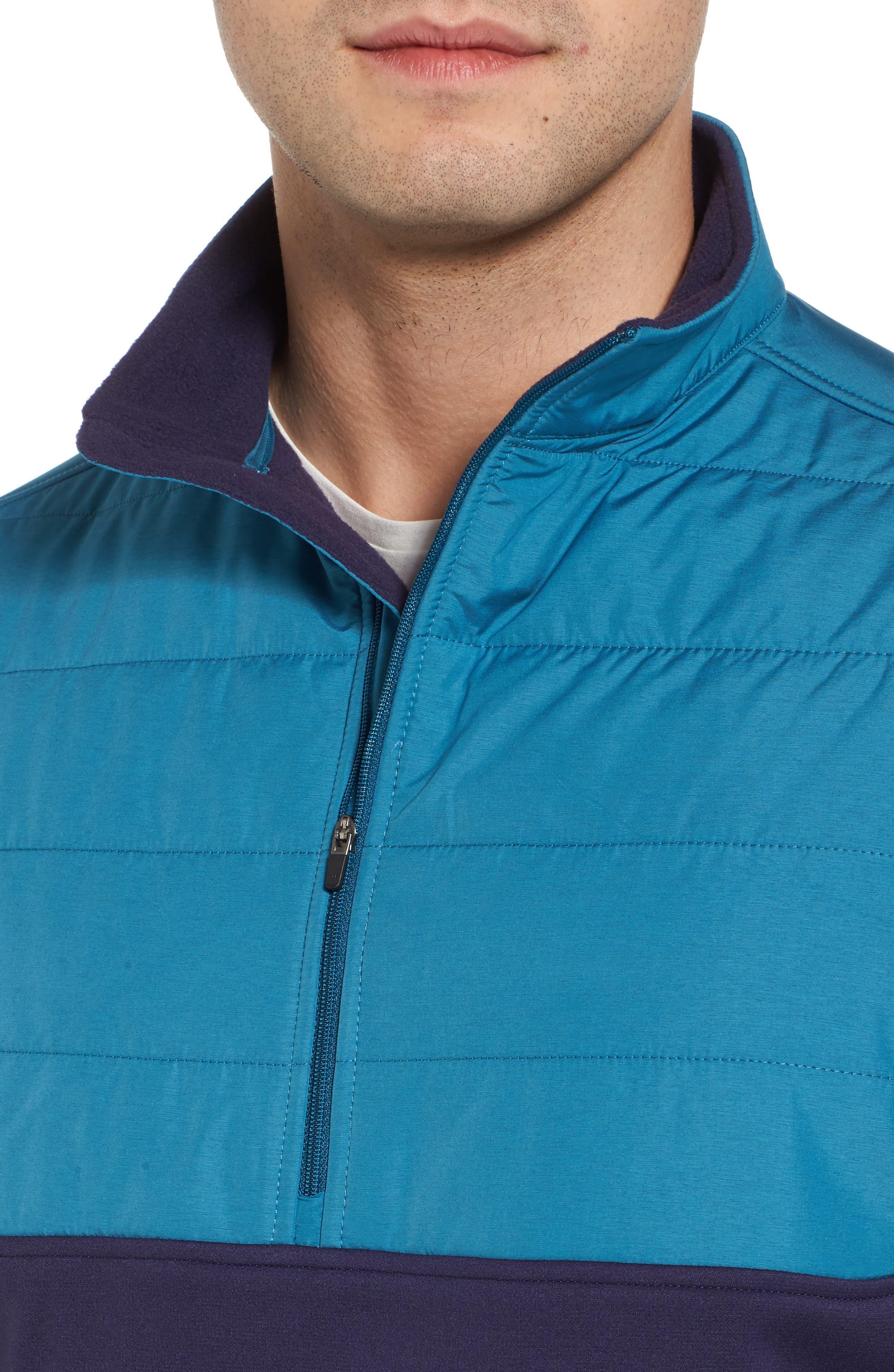 Sheffield Hybrid Half Zip Pullover,                             Alternate thumbnail 4, color,                             Yankee Blue