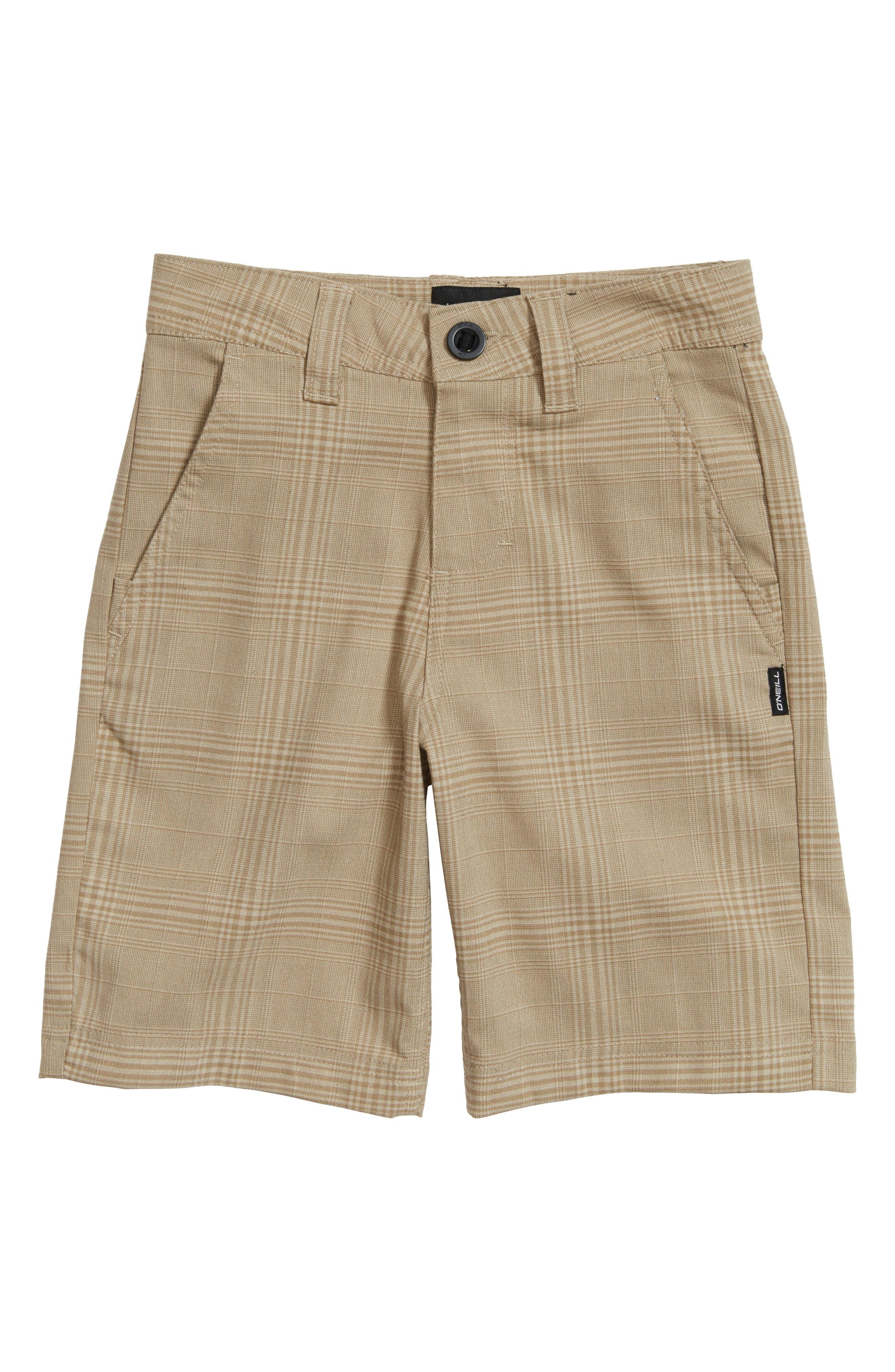 Bristol Plaid Shorts,                             Main thumbnail 1, color,                             Khaki
