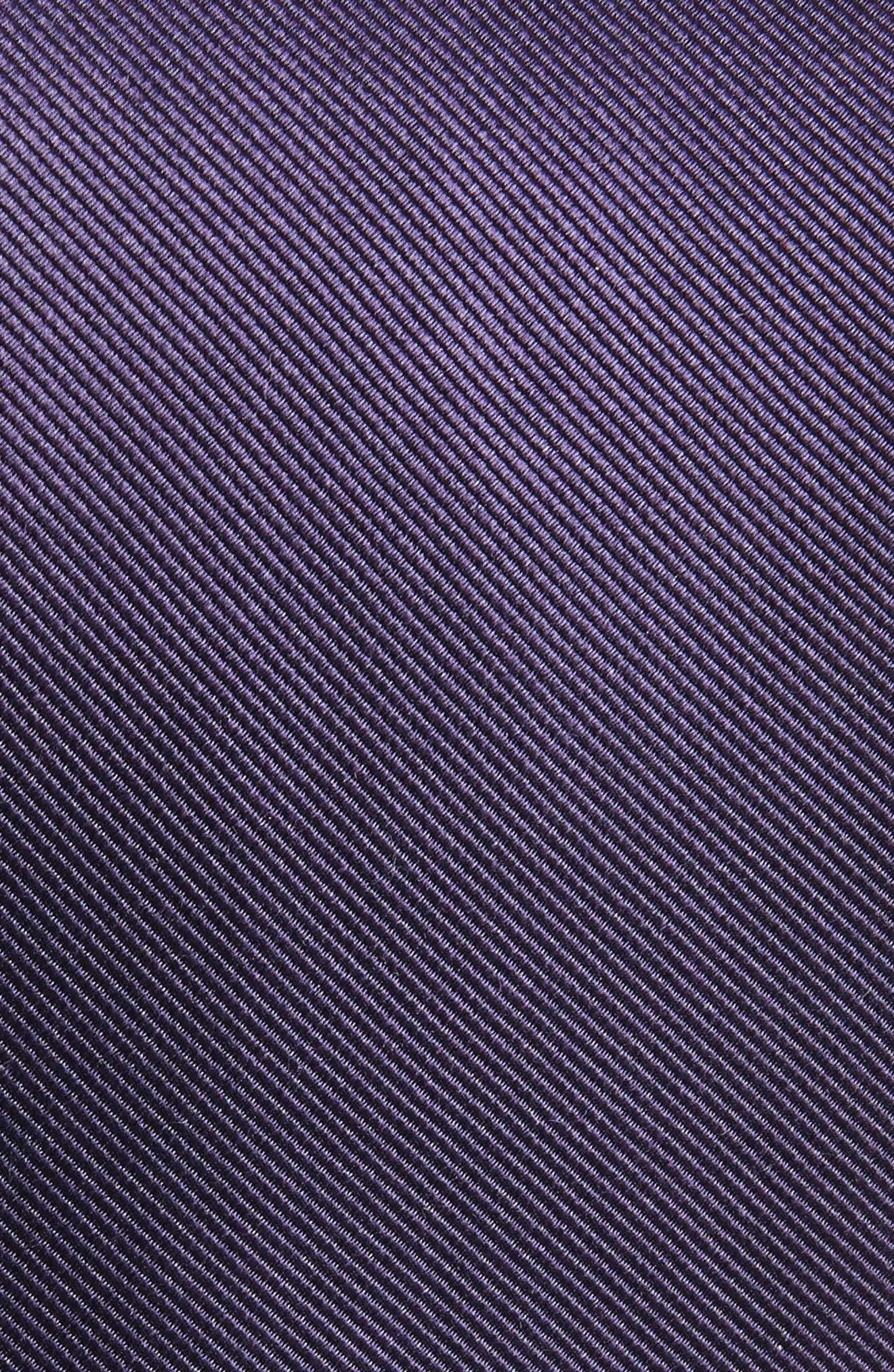 Solid Silk Tie,                             Alternate thumbnail 2, color,                             Deep Eggplant