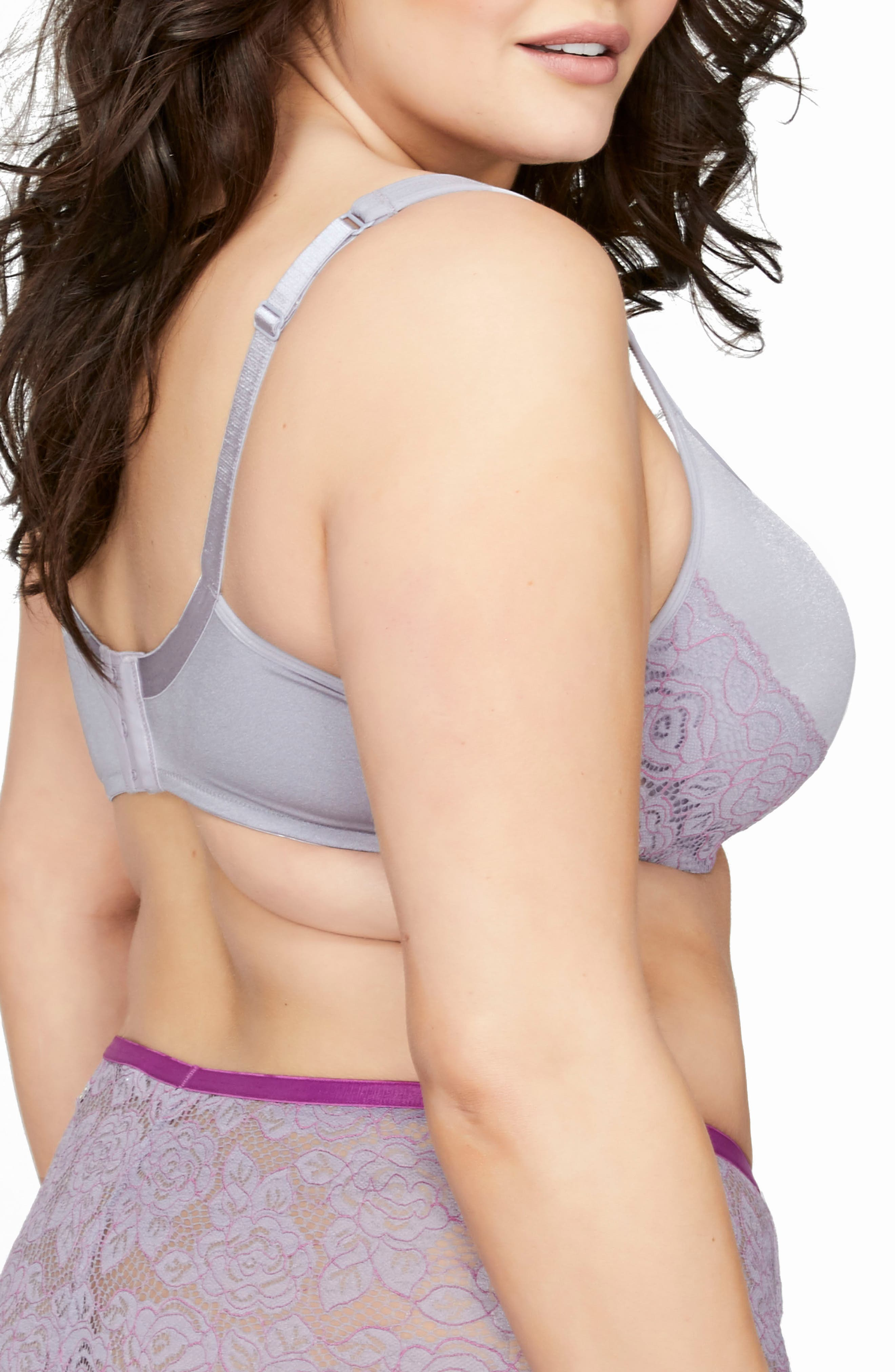 Undressed Contour Underwire Bra,                             Alternate thumbnail 2, color,                             Lilac Gray