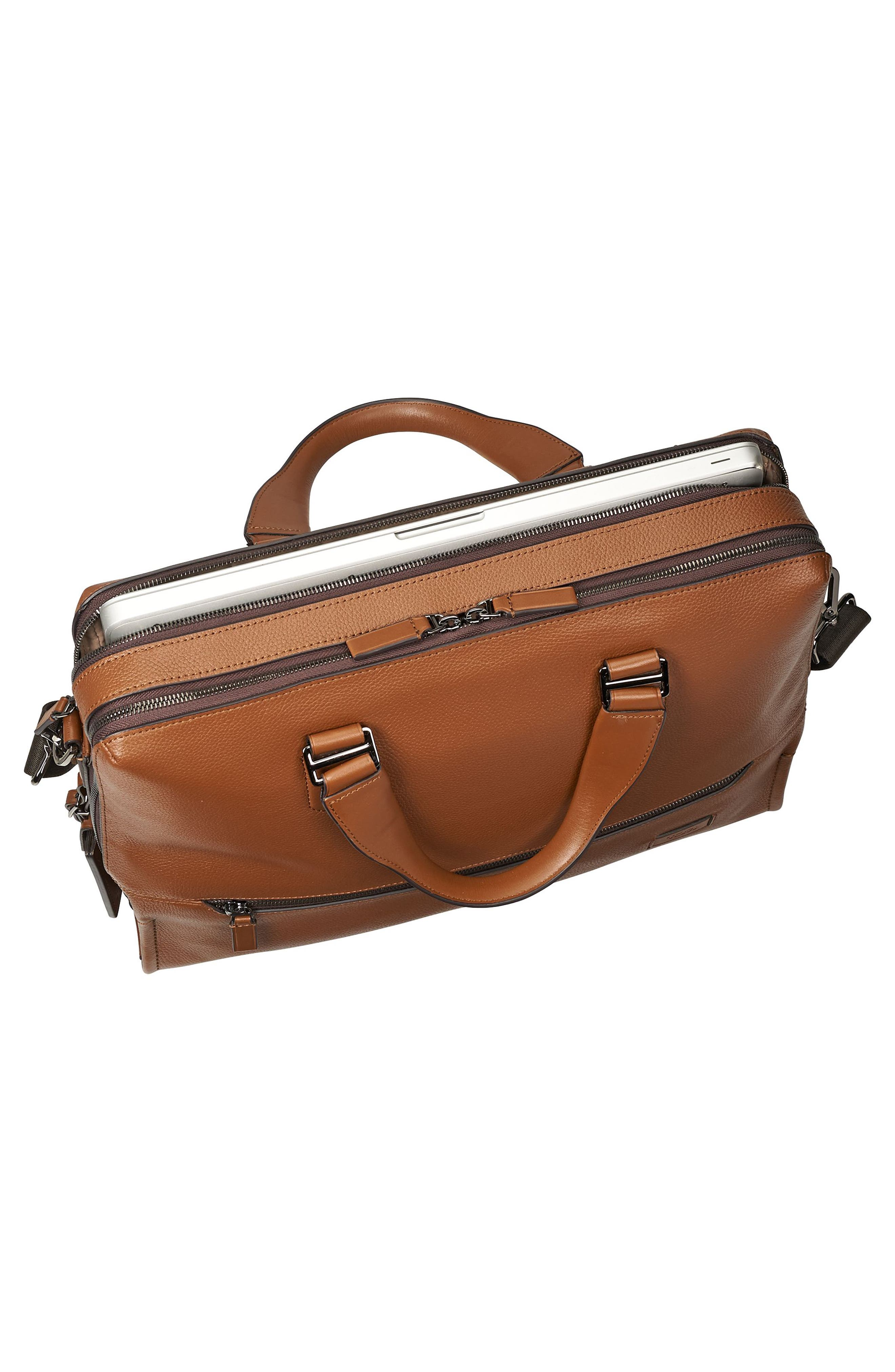 Harrison - Horton Briefcase,                             Alternate thumbnail 4, color,                             Umber Pebbled