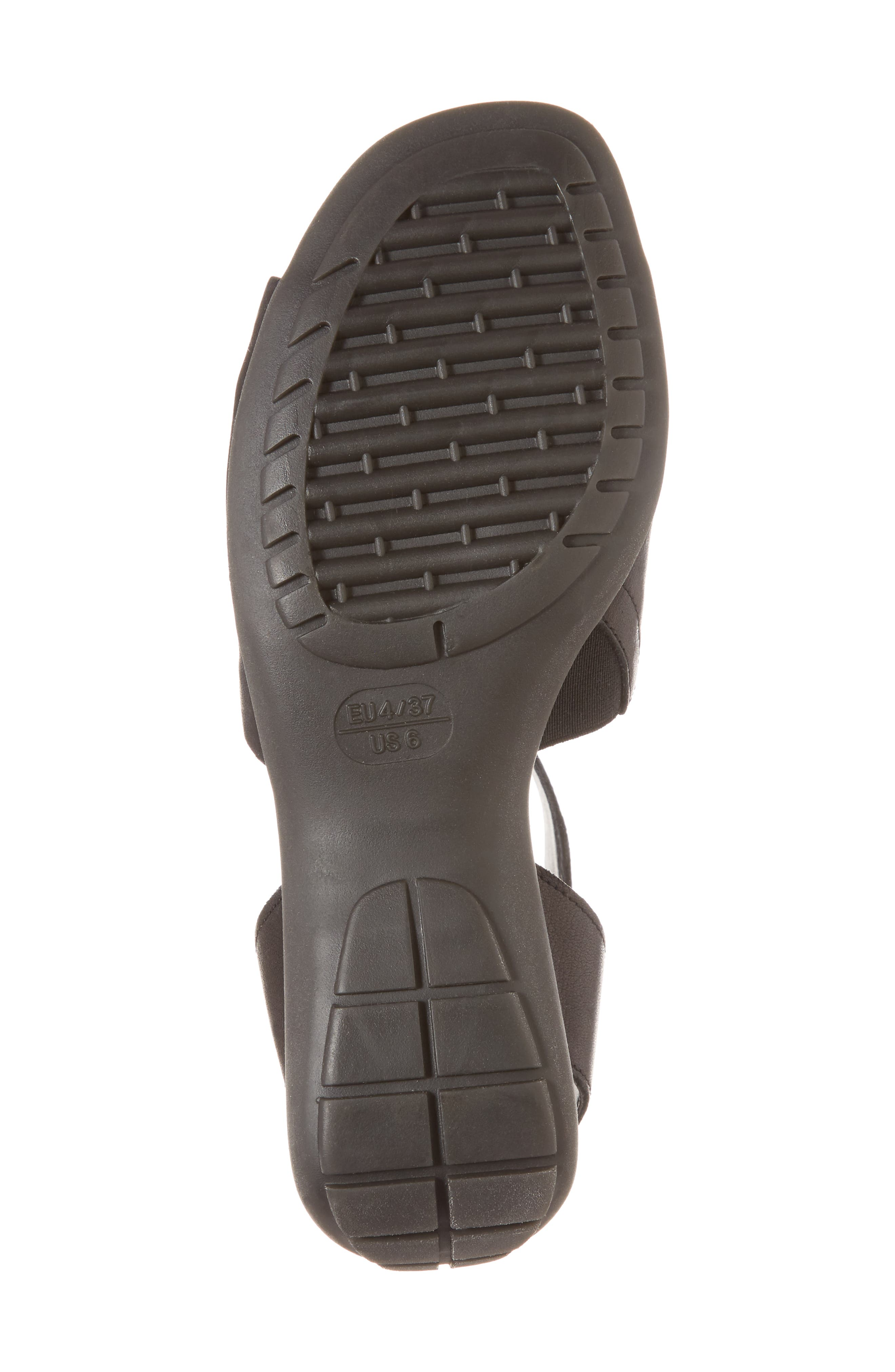 'Beglad' Leather Ankle Strap Sandal,                             Alternate thumbnail 6, color,                             Black Vachetta Leather