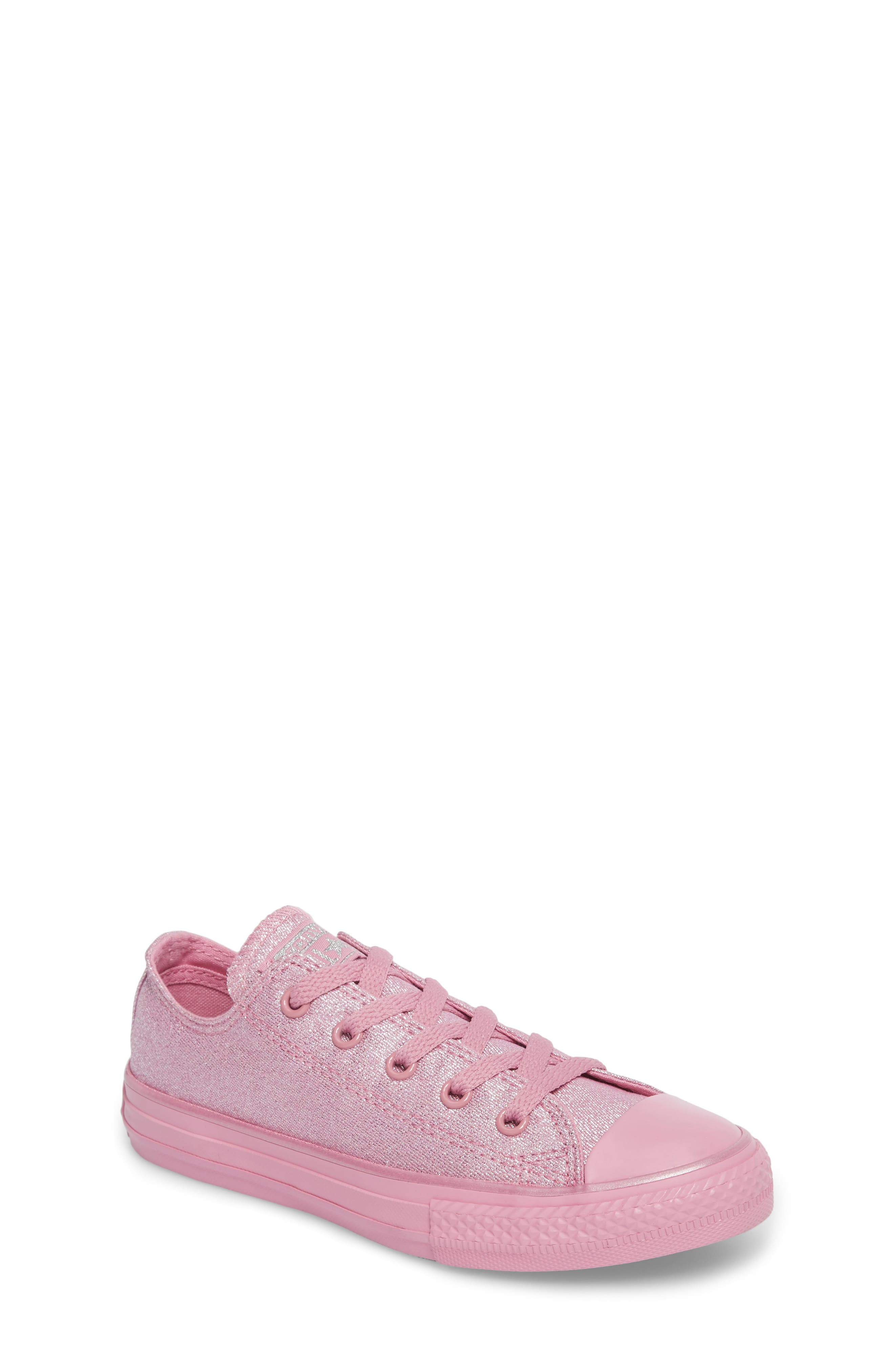 Alternate Image 1 Selected - Converse All Star® Mono Shine Low Top Sneaker (Toddler, Little Kid & Big Kid)