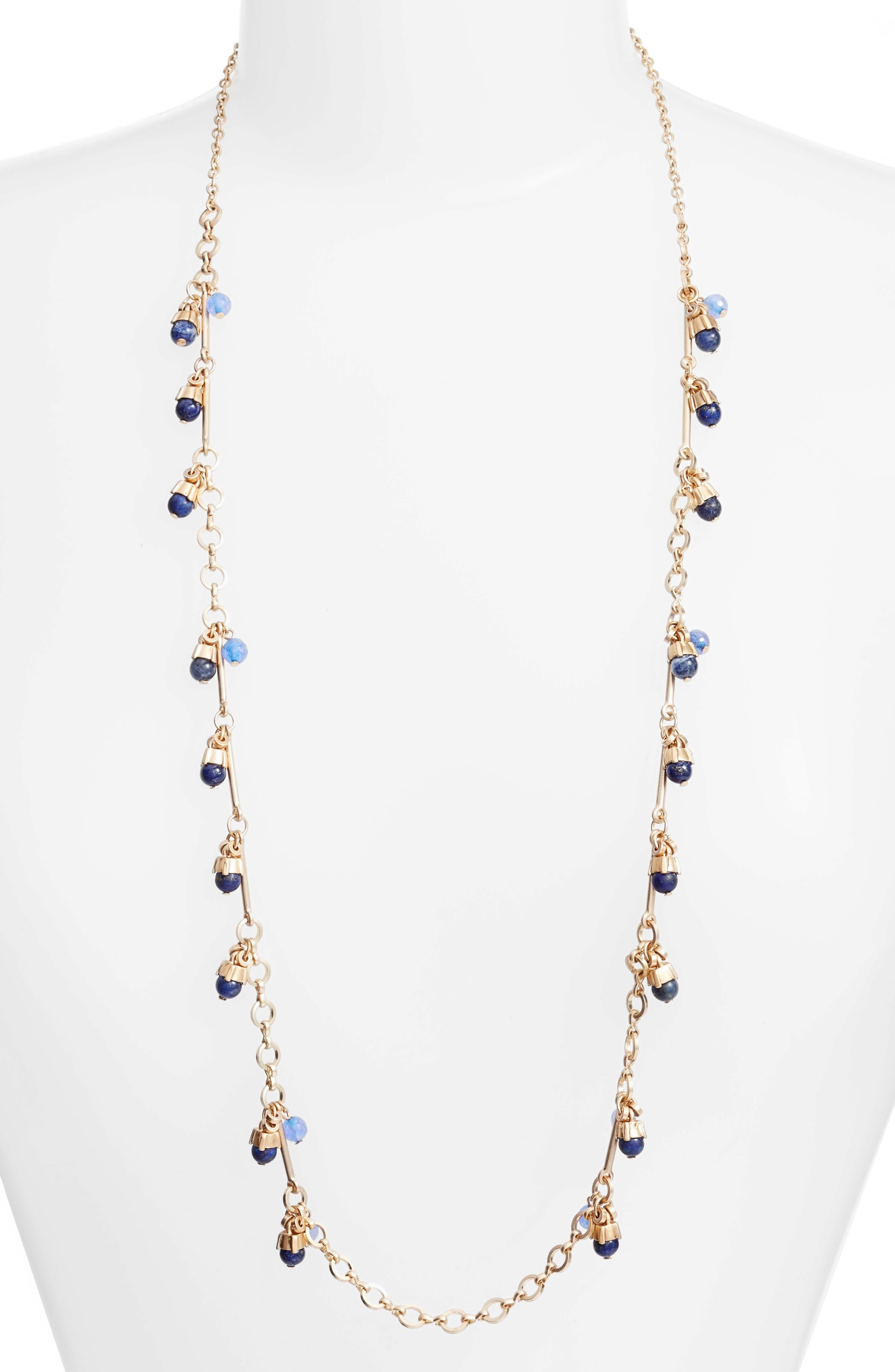 Treasure & Bond Stone Drop Station Necklace