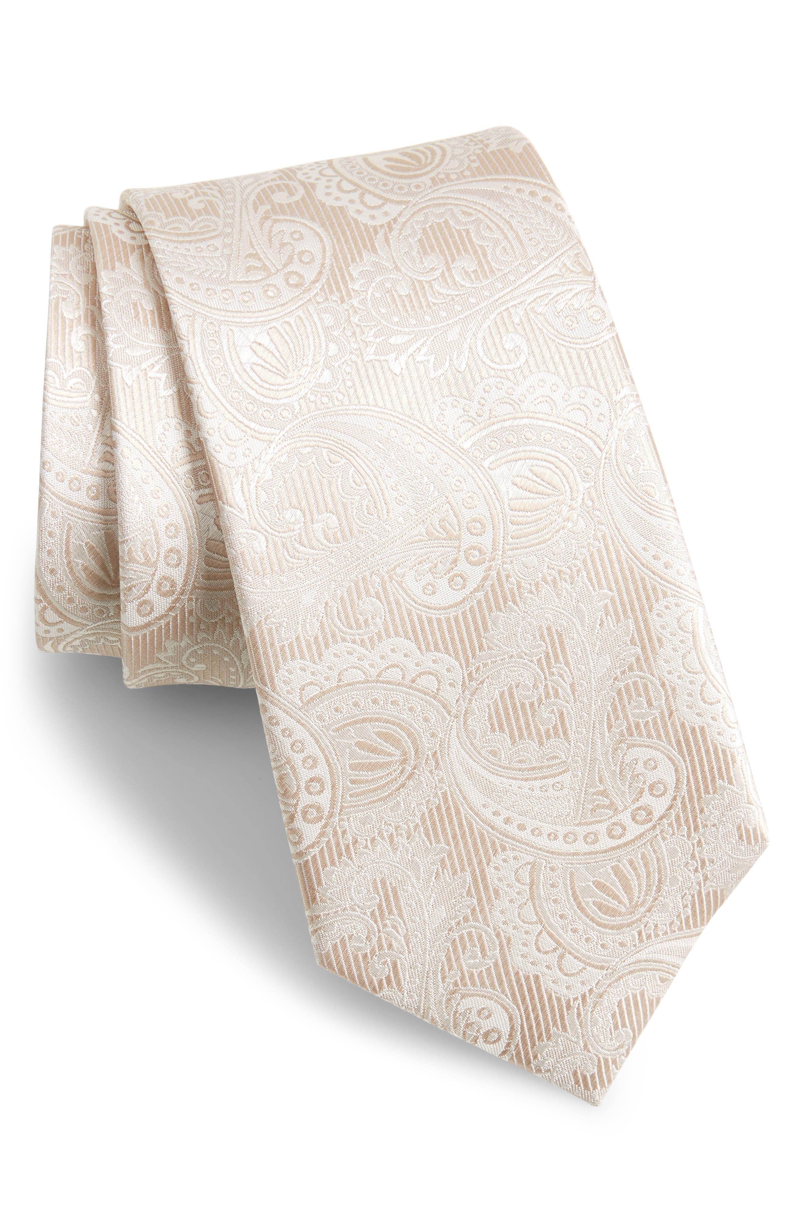 Main Image - The Tie Bar Paisley Silk Tie (X-Long)