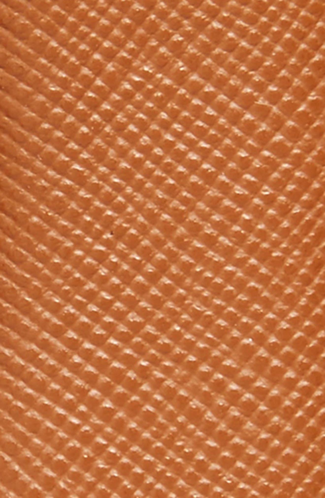 Saffiano Leather Belt,                             Alternate thumbnail 2, color,                             Light Brown