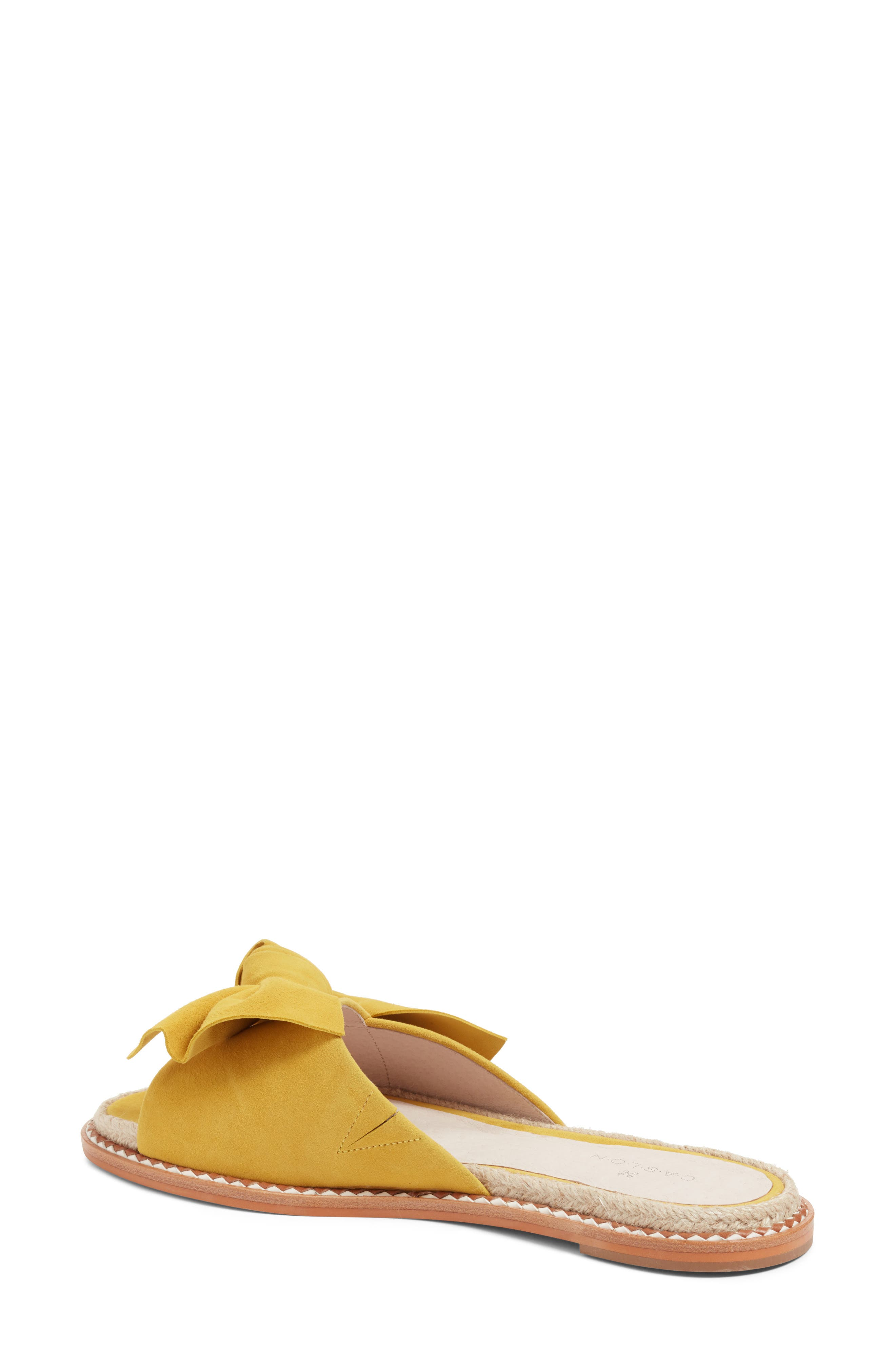Darcie Slide Sandal,                             Alternate thumbnail 2, color,                             Mustard Suede