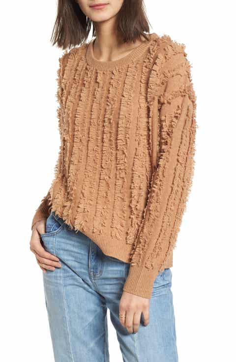Madewell Fringe Stripe Pullover Sweater