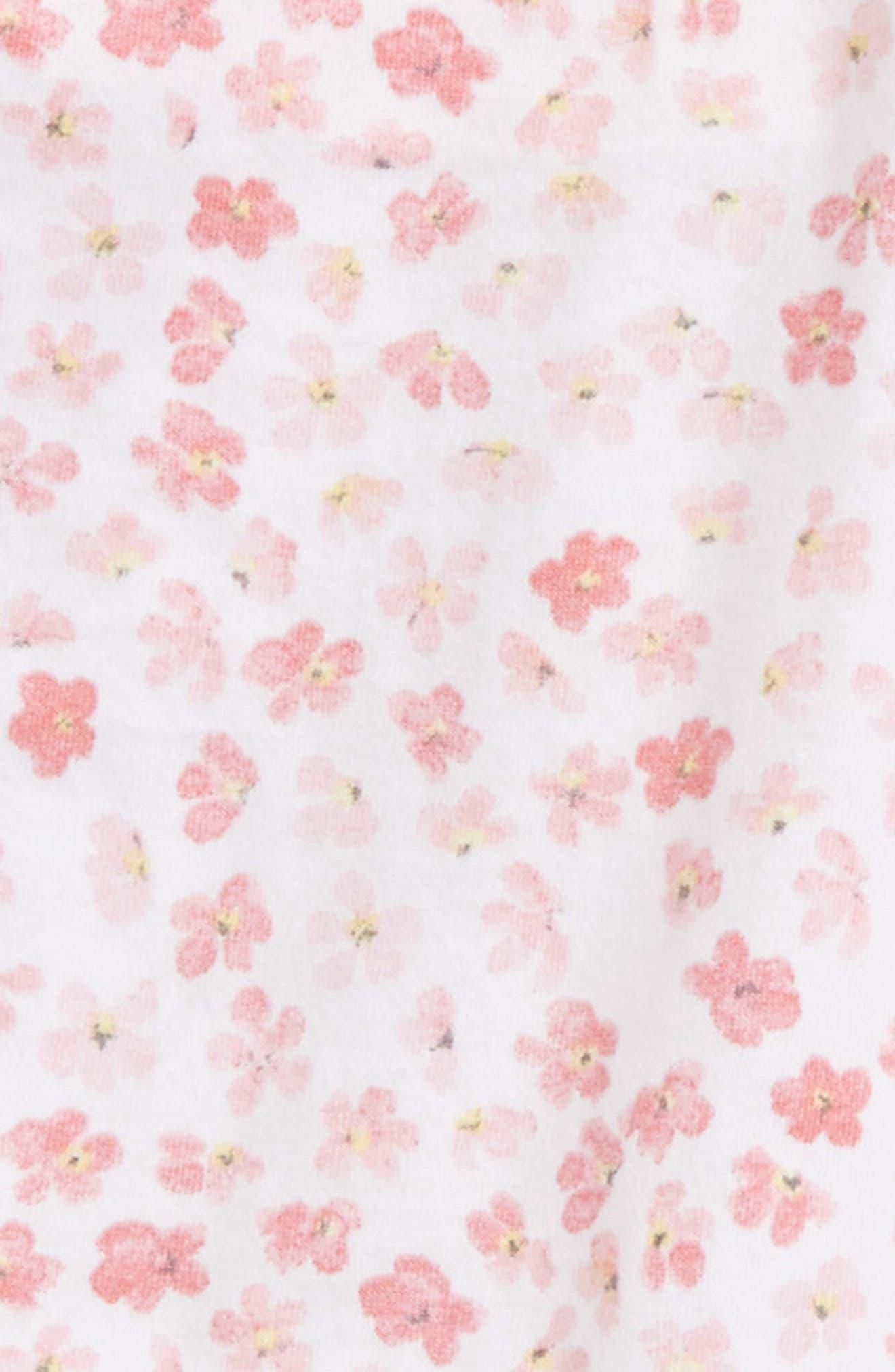 Mini Flower Organic Cotton Bodysuit & Pants Set,                             Alternate thumbnail 2, color,                             Water Lily