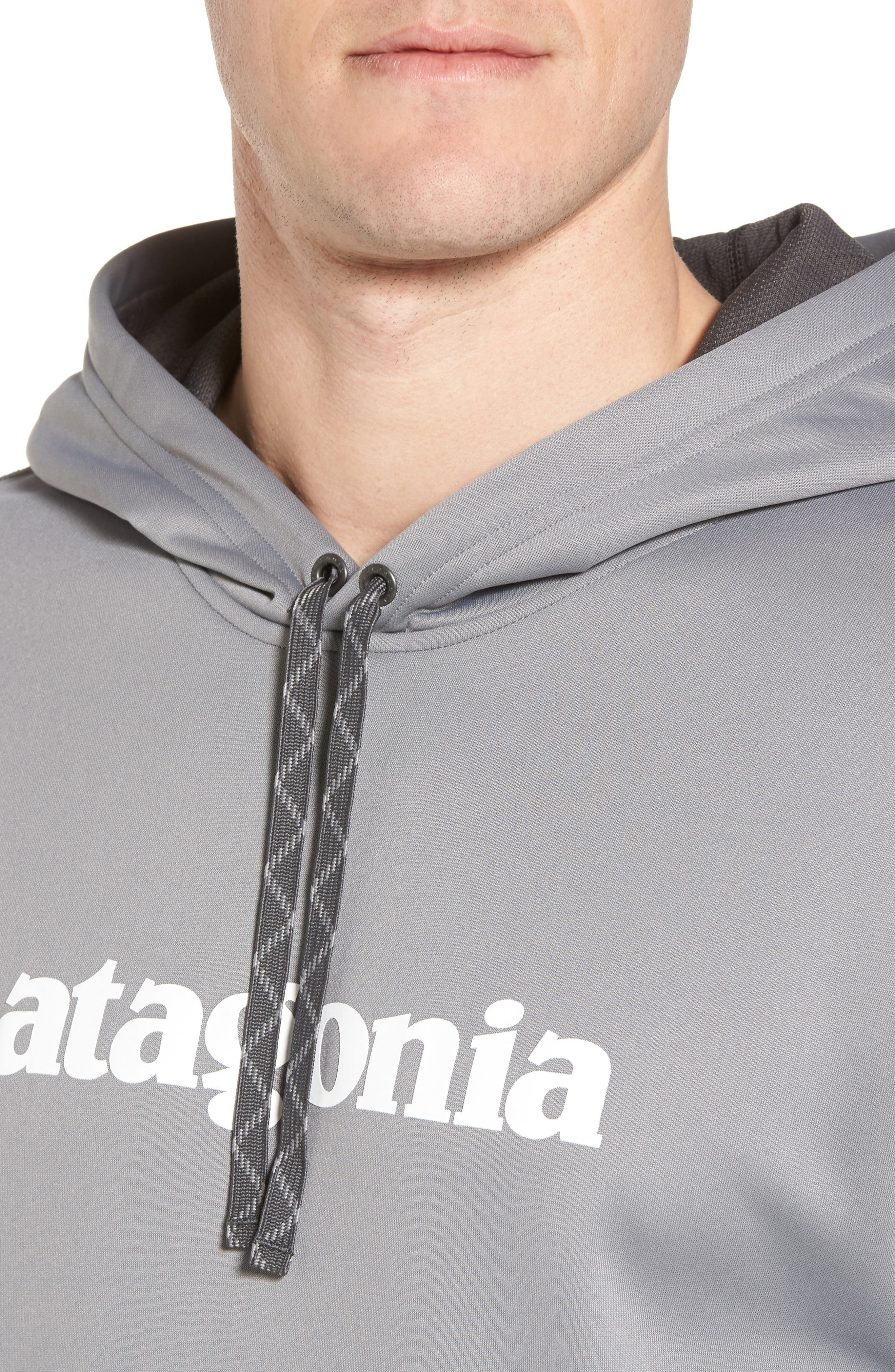 Polycycle Hoodie,                             Alternate thumbnail 4, color,                             Feather Grey/ White