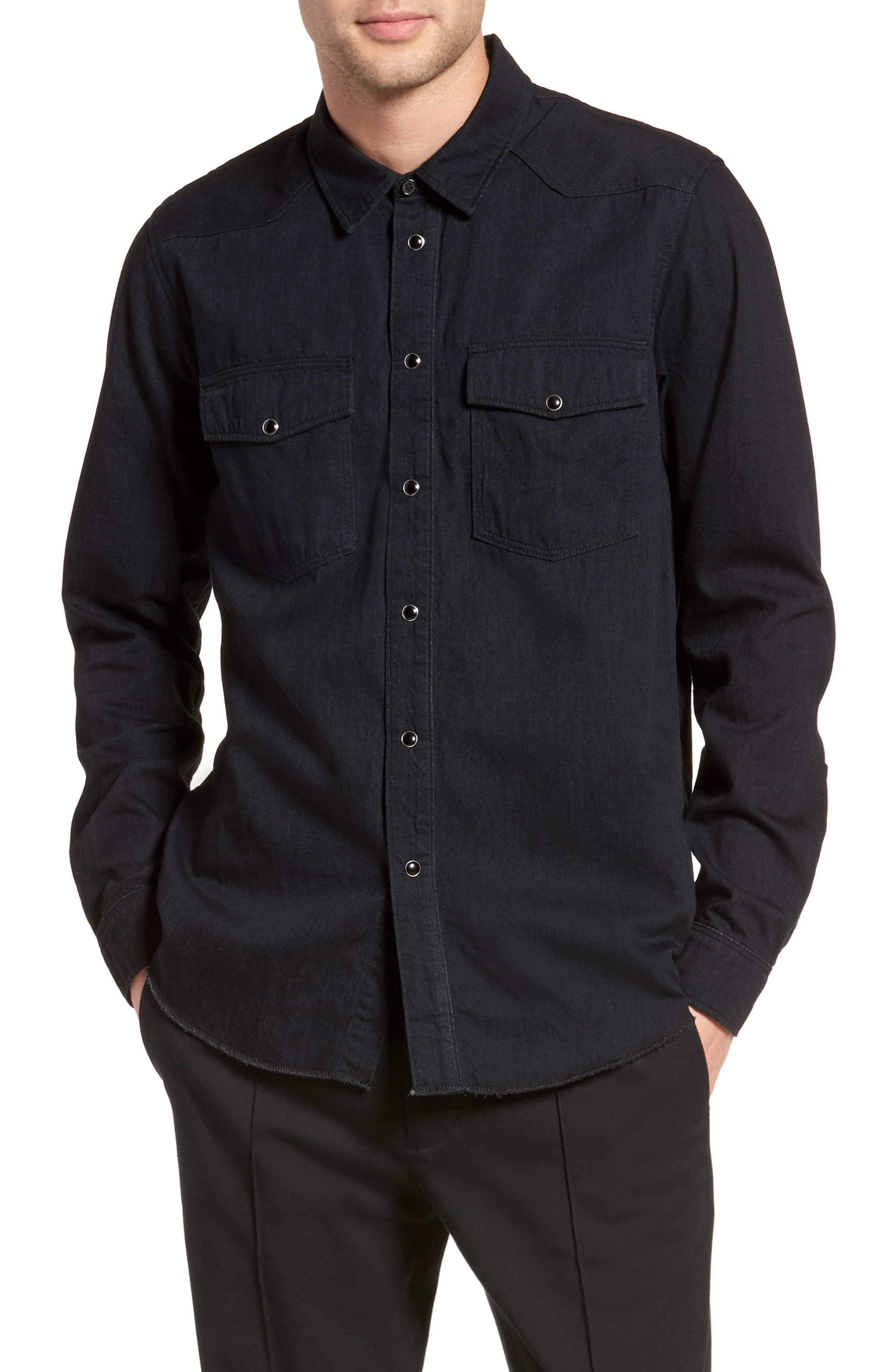 Vince Western Chambray Sport Shirt