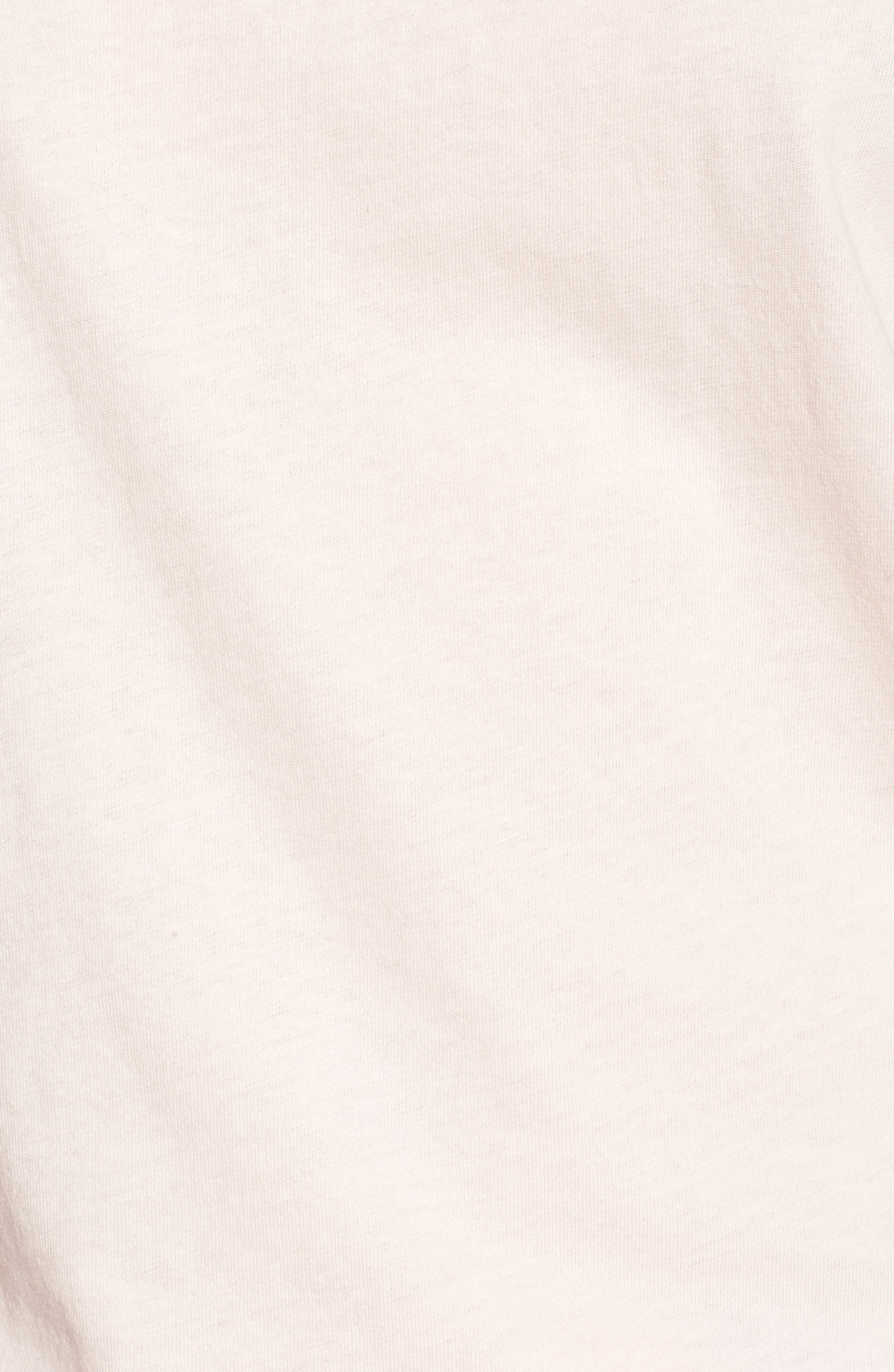 Los Angeles Cotton Boyfriend Tee,                             Alternate thumbnail 6, color,                             Washed Pale Pink