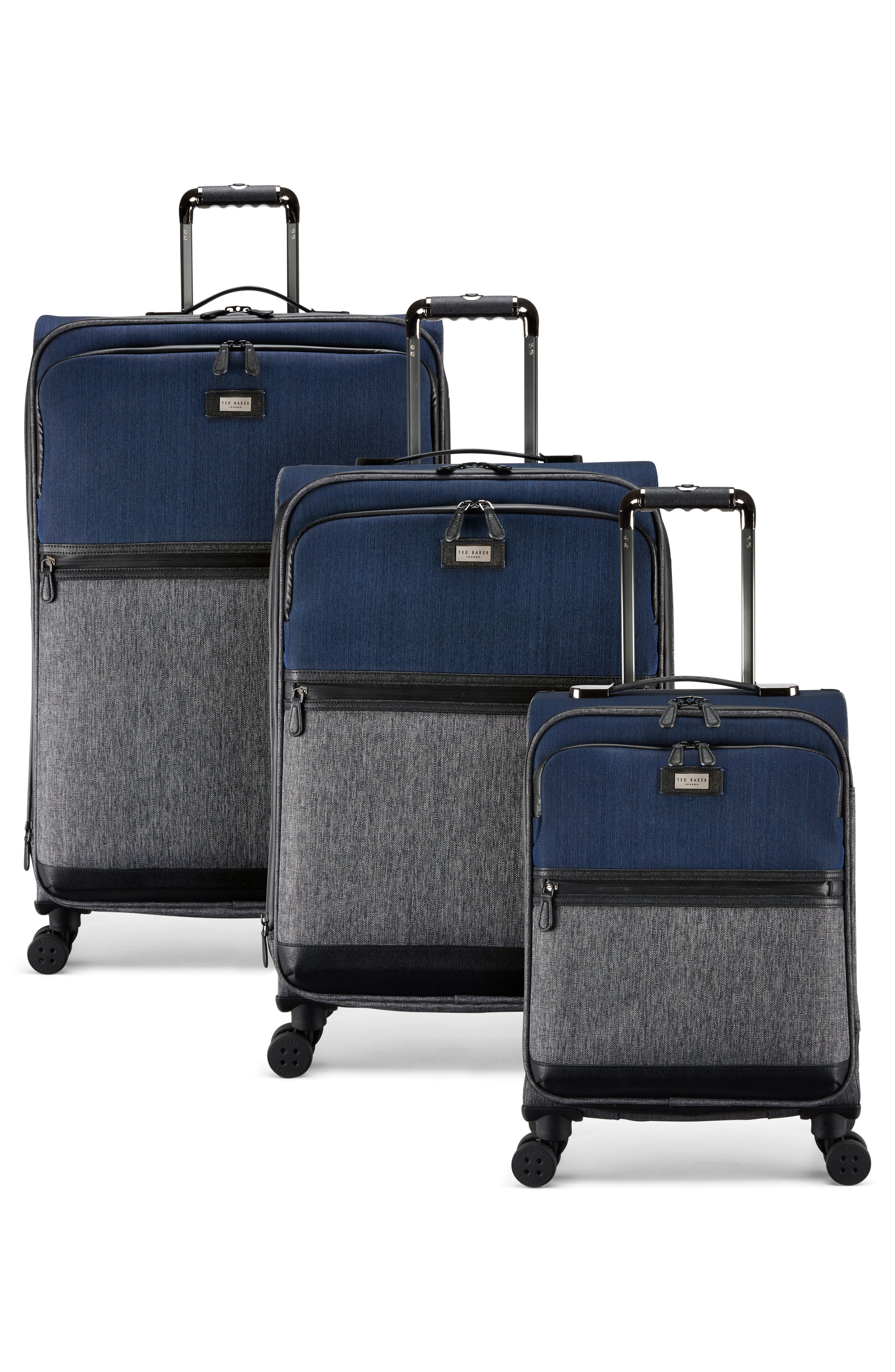 Large Brunswick 32-Inch Rolling Suitcase,                             Alternate thumbnail 5, color,                             Grey