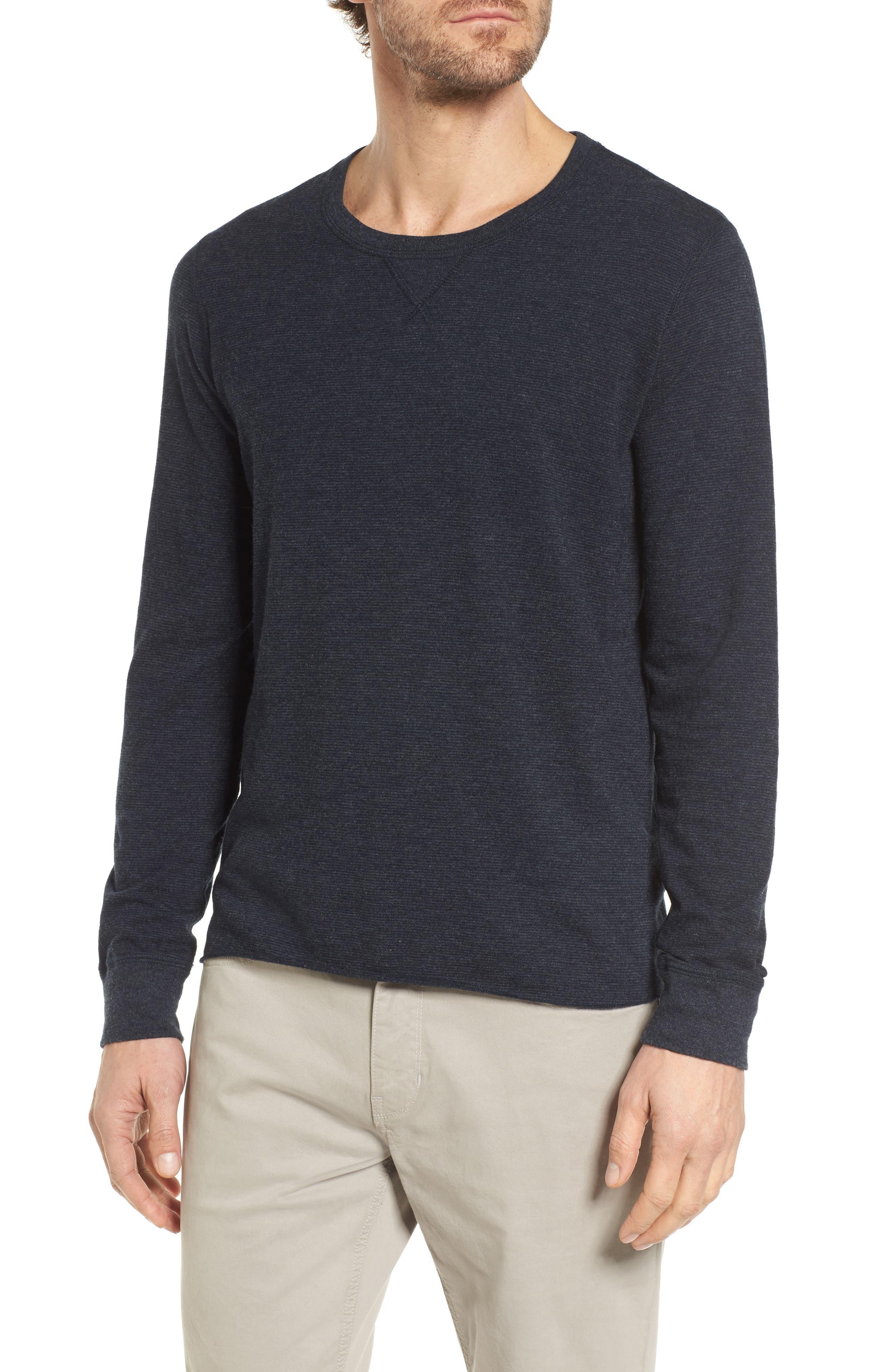 Dylan Stripe T-Shirt,                             Main thumbnail 1, color,                             Carbon Blue