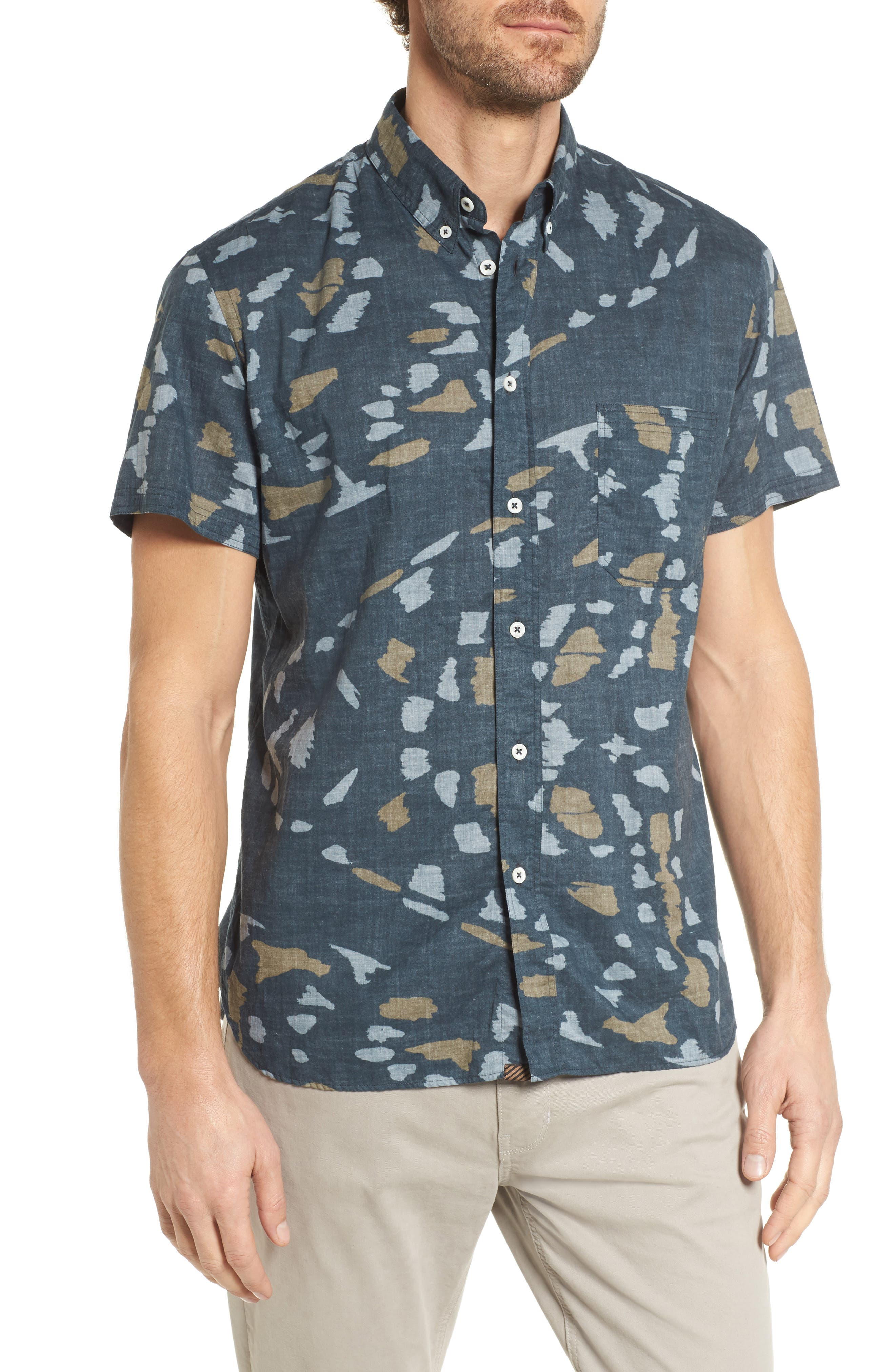 Tuscumbia Slim Fit Sport Shirt,                         Main,                         color, Navy