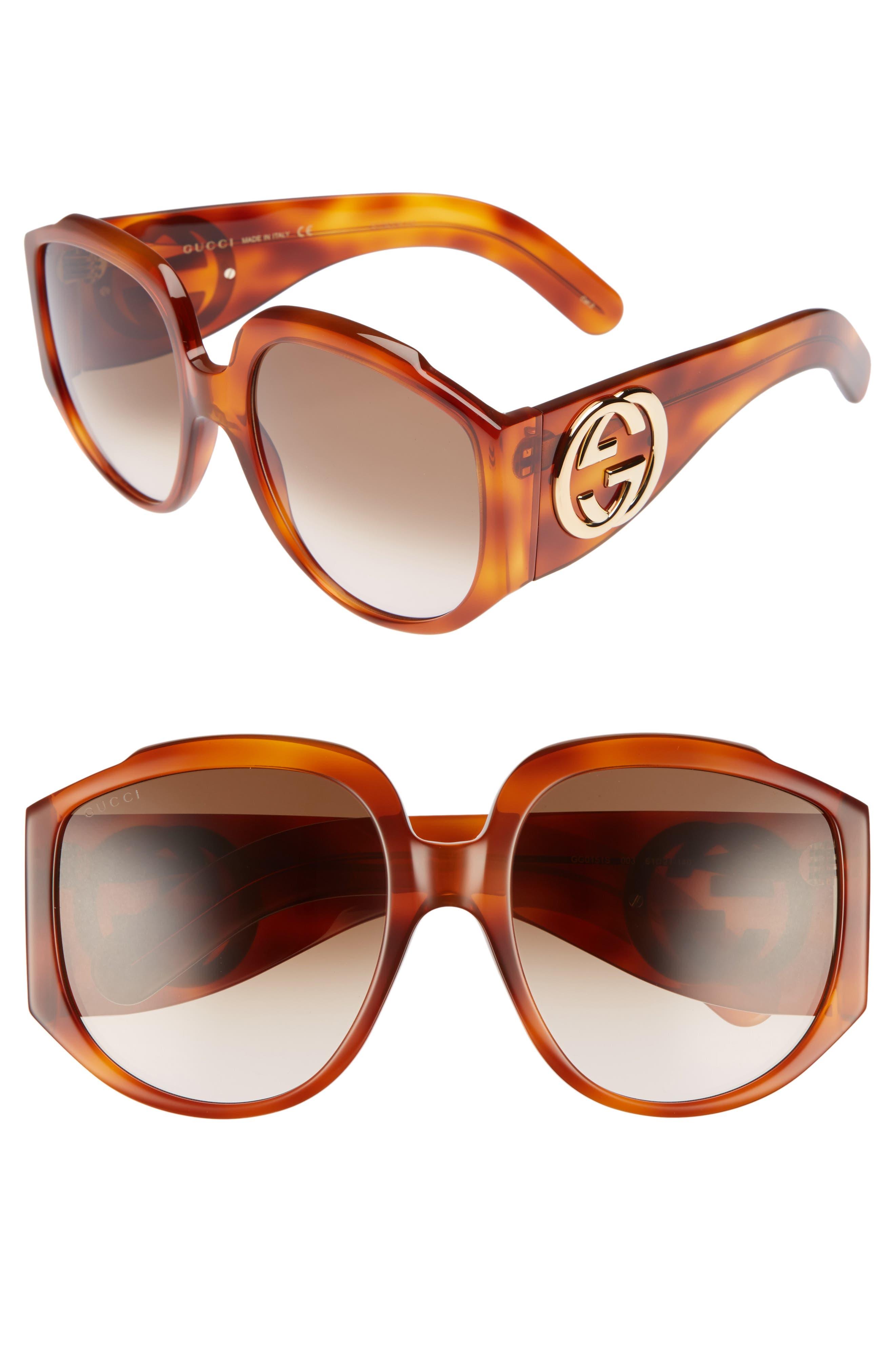 5ab2309b8f7be Gucci Wayfarer Sunglasses Light Brown Black – Southern California ...