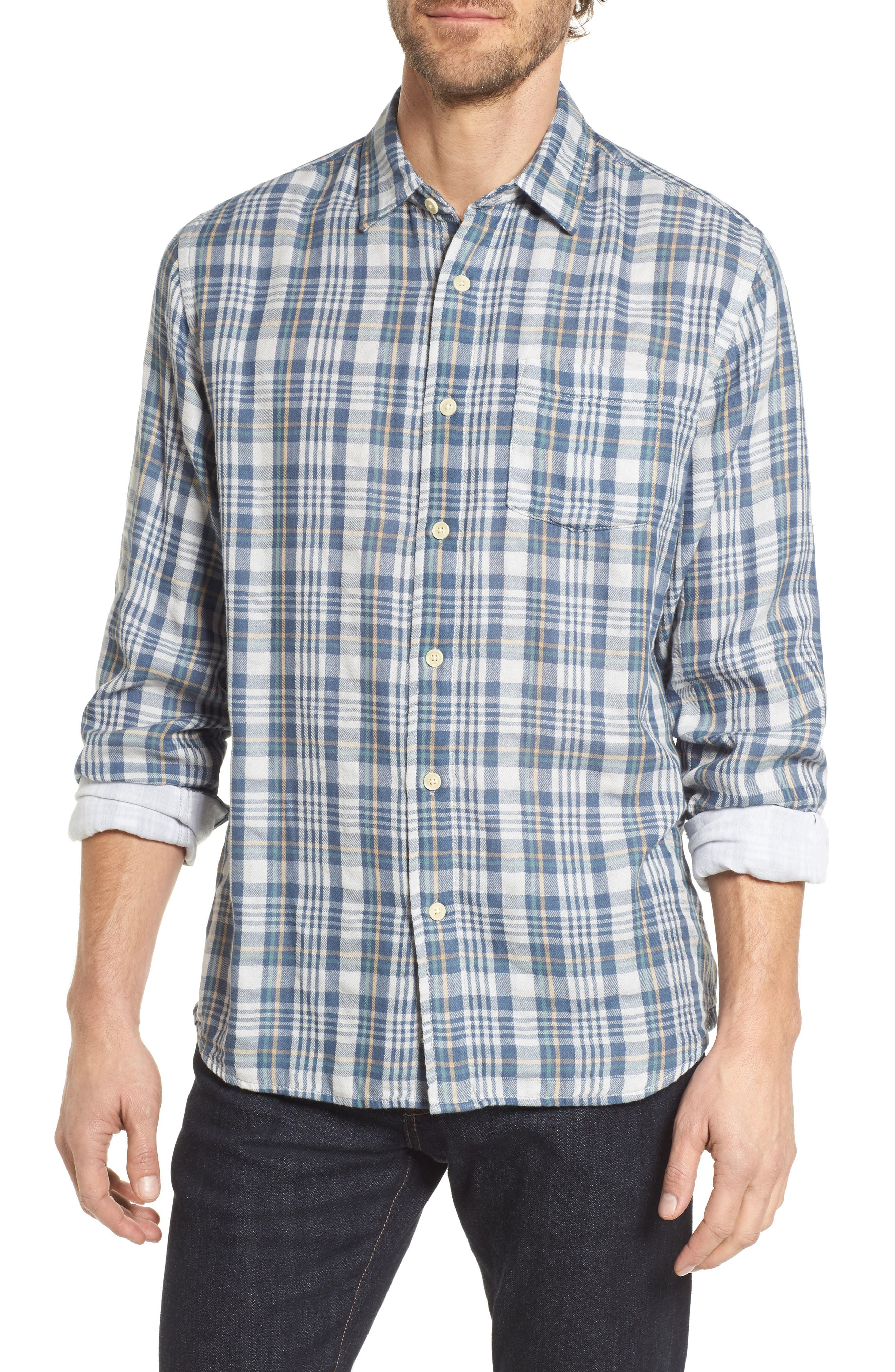 Grayers Abercorn Double Cloth Plaid Sport Shirt
