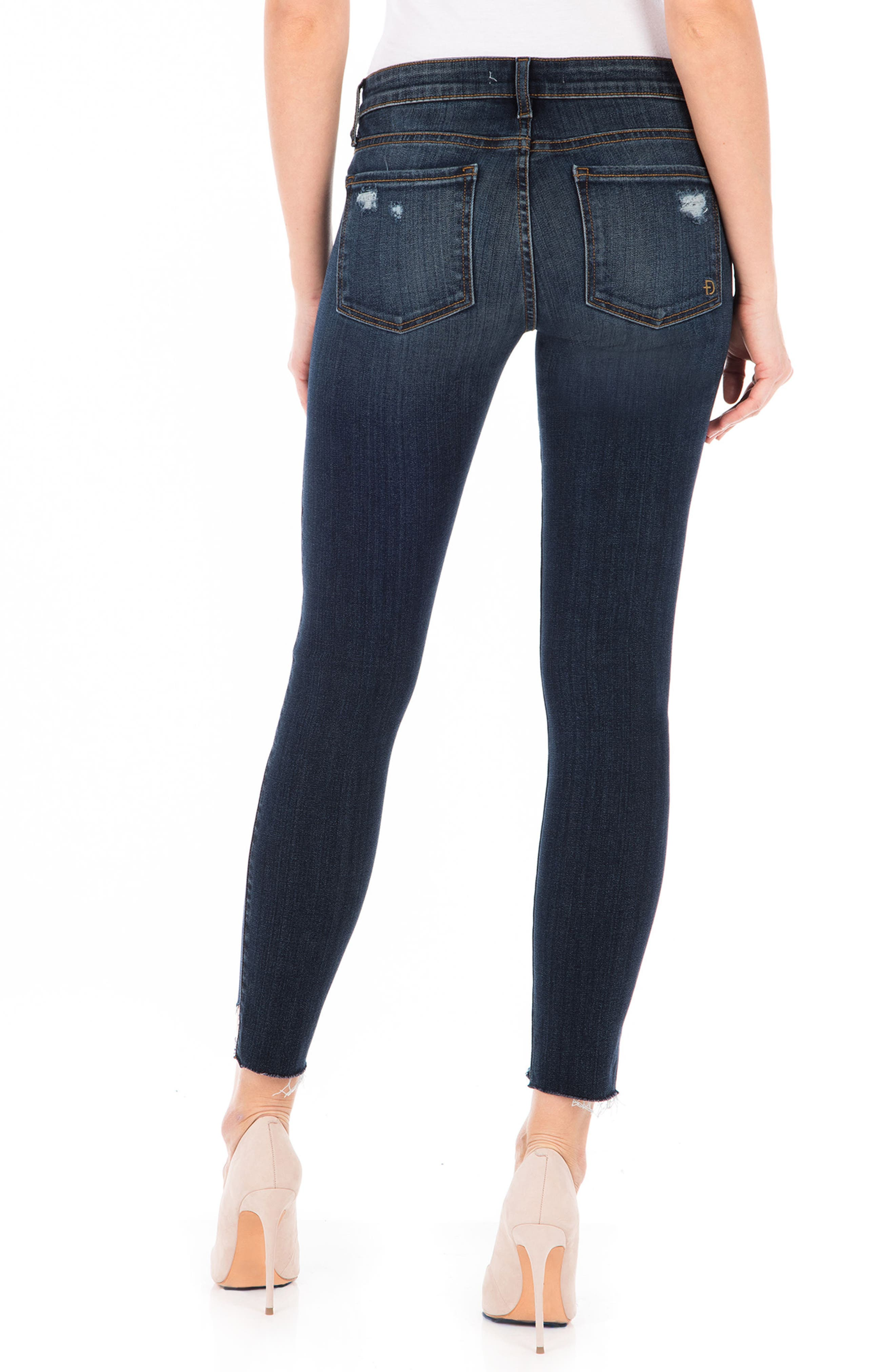 Mila Crop Skinny Jeans,                             Alternate thumbnail 2, color,                             Refinery Blue