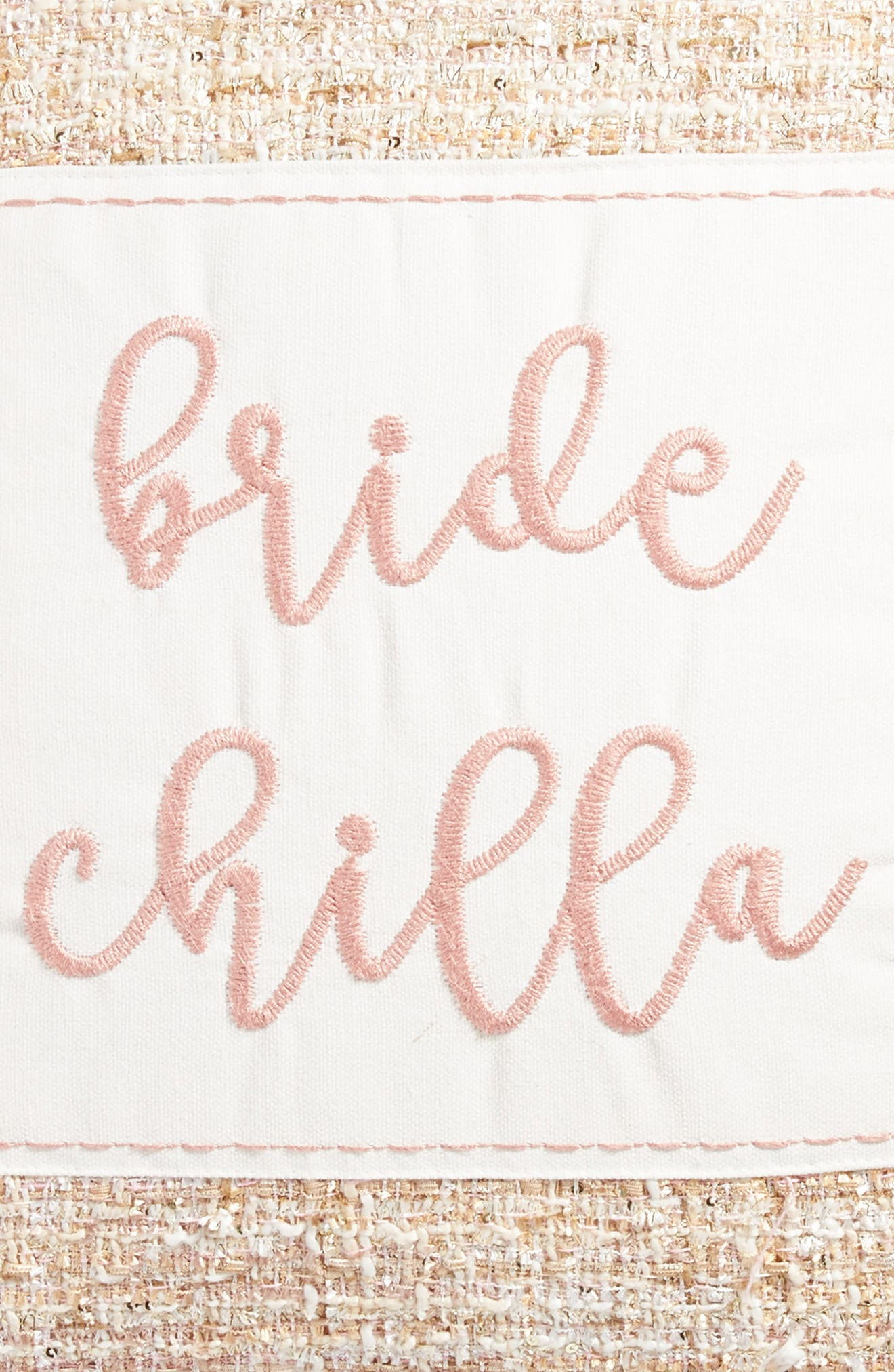 Bride Chilla Accent Pillow,                             Alternate thumbnail 3, color,                             Blush