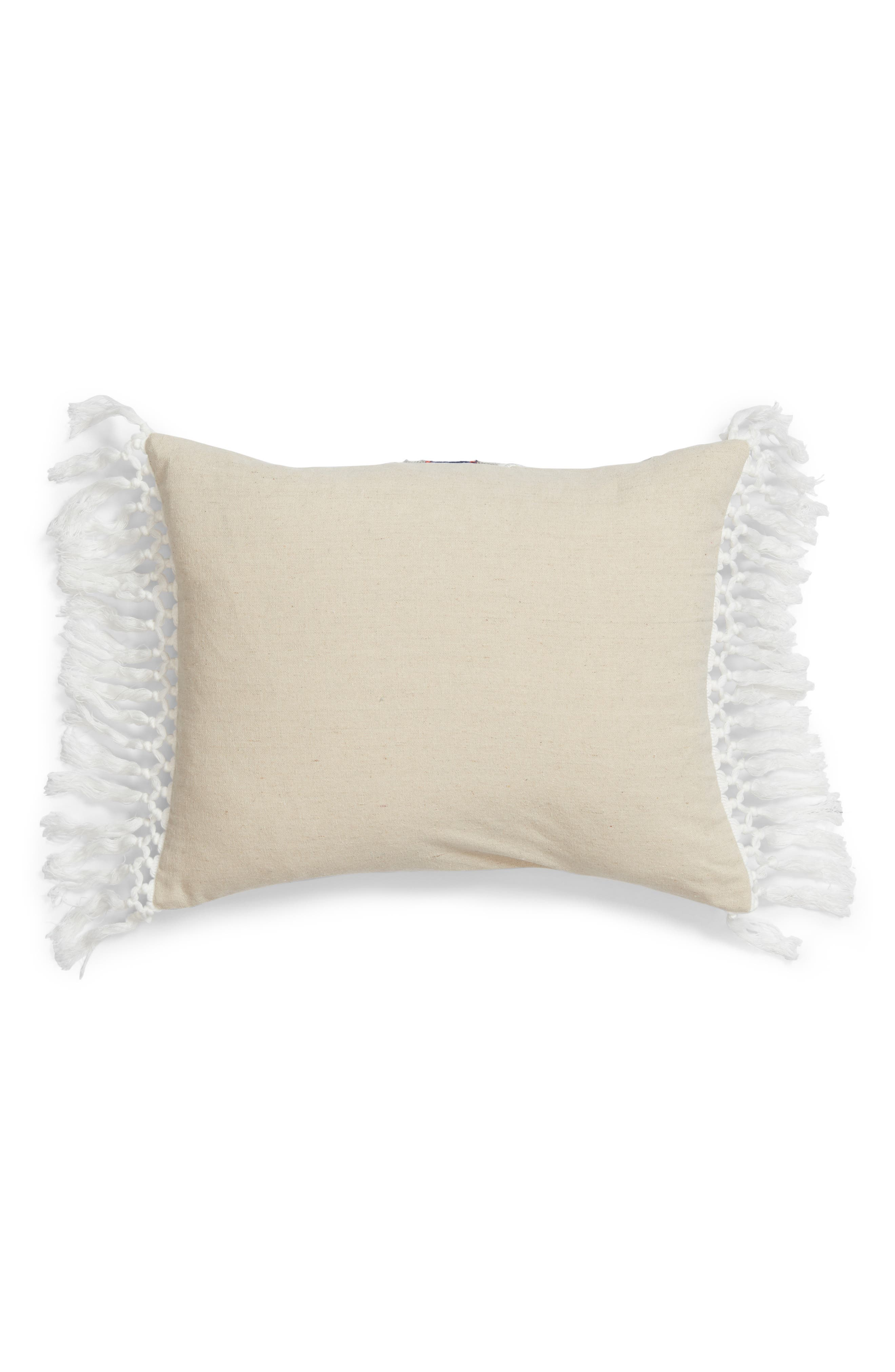 Reya Embroidered Accent Pillow,                             Alternate thumbnail 3, color,                             Natural