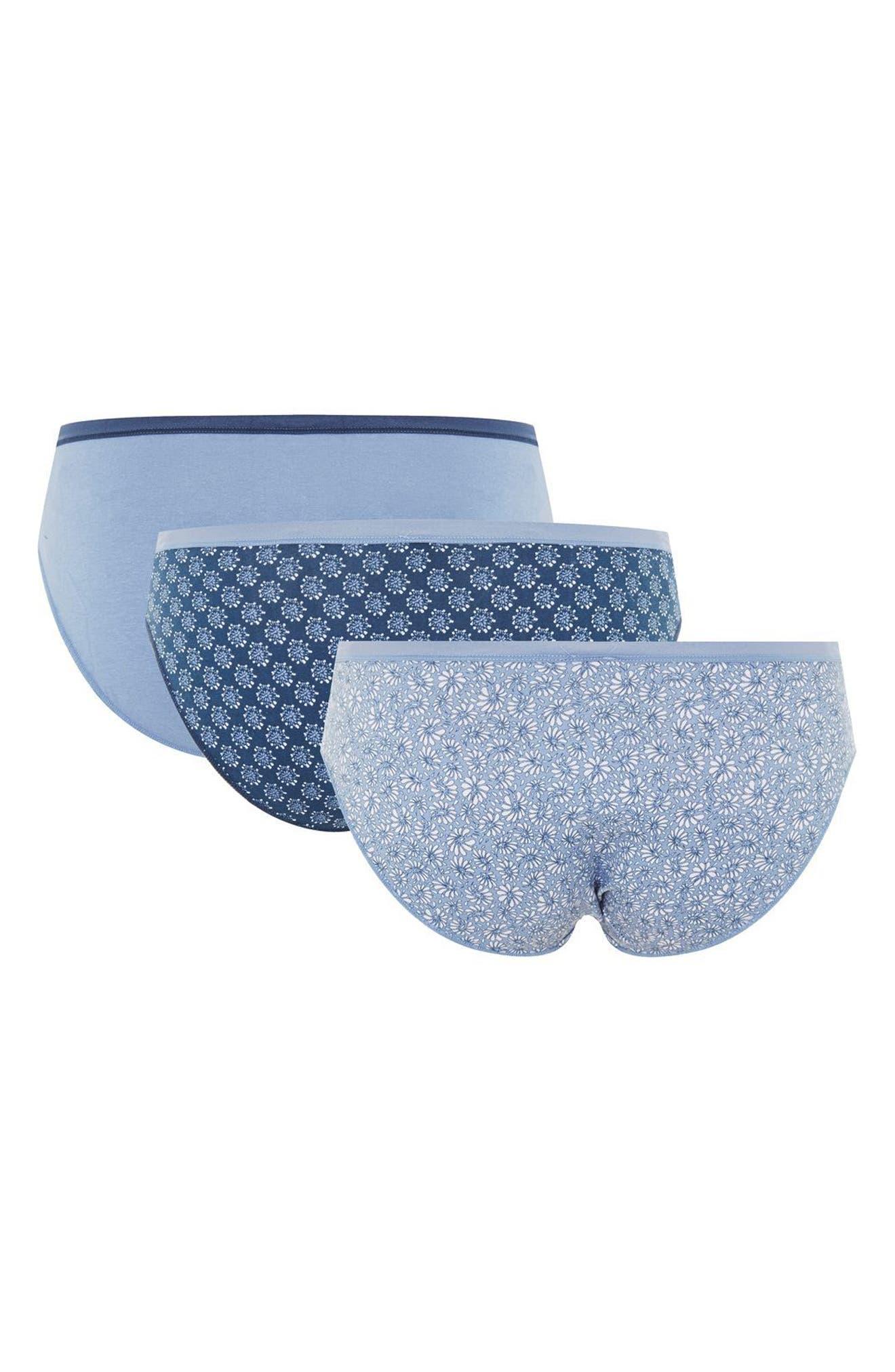 Set of 3 Panties,                             Alternate thumbnail 2, color,                             Blue Multi