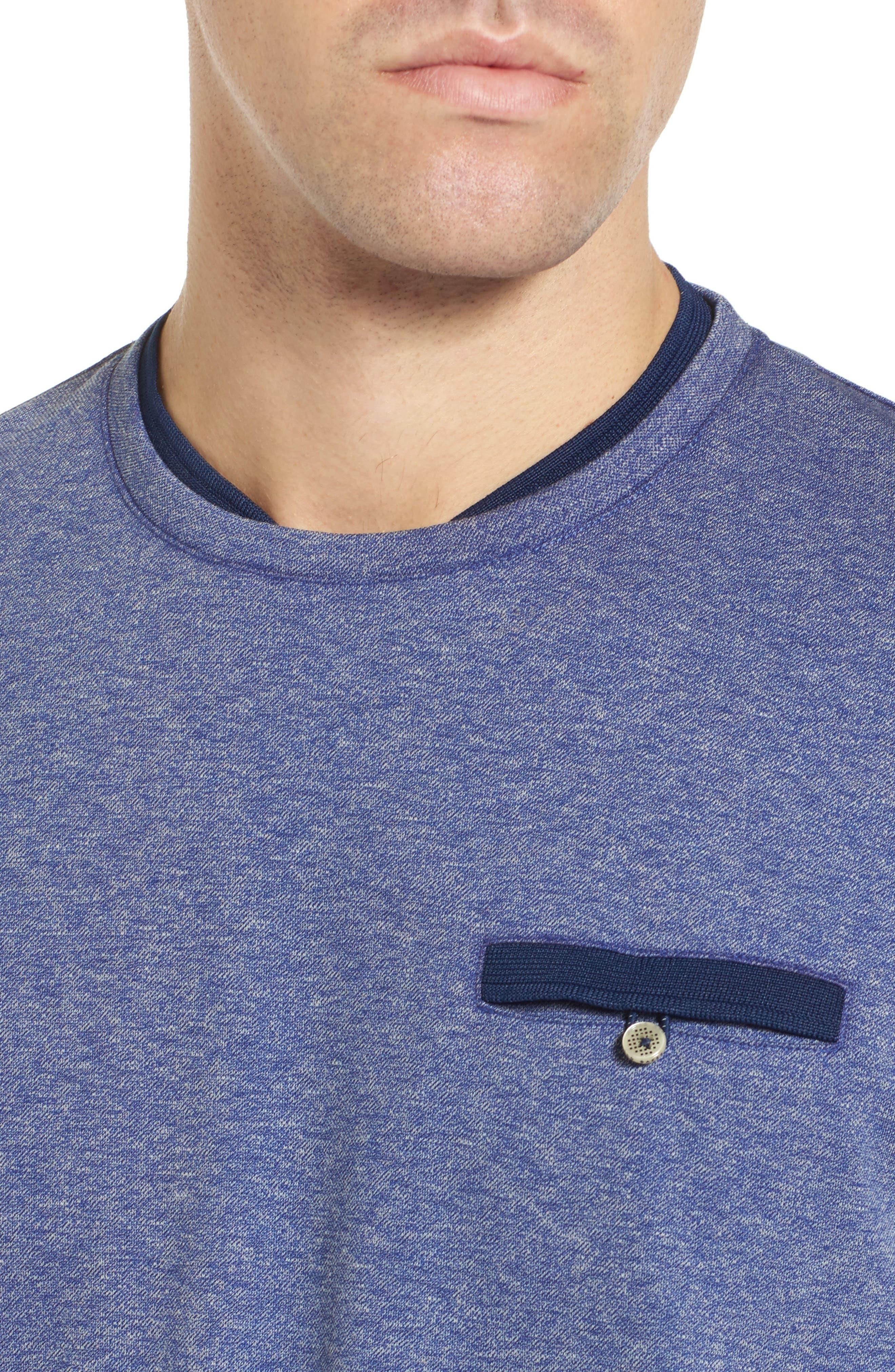 Alternate Image 4  - Ted Baker London Climb Mouline Layered Pocket T-Shirt