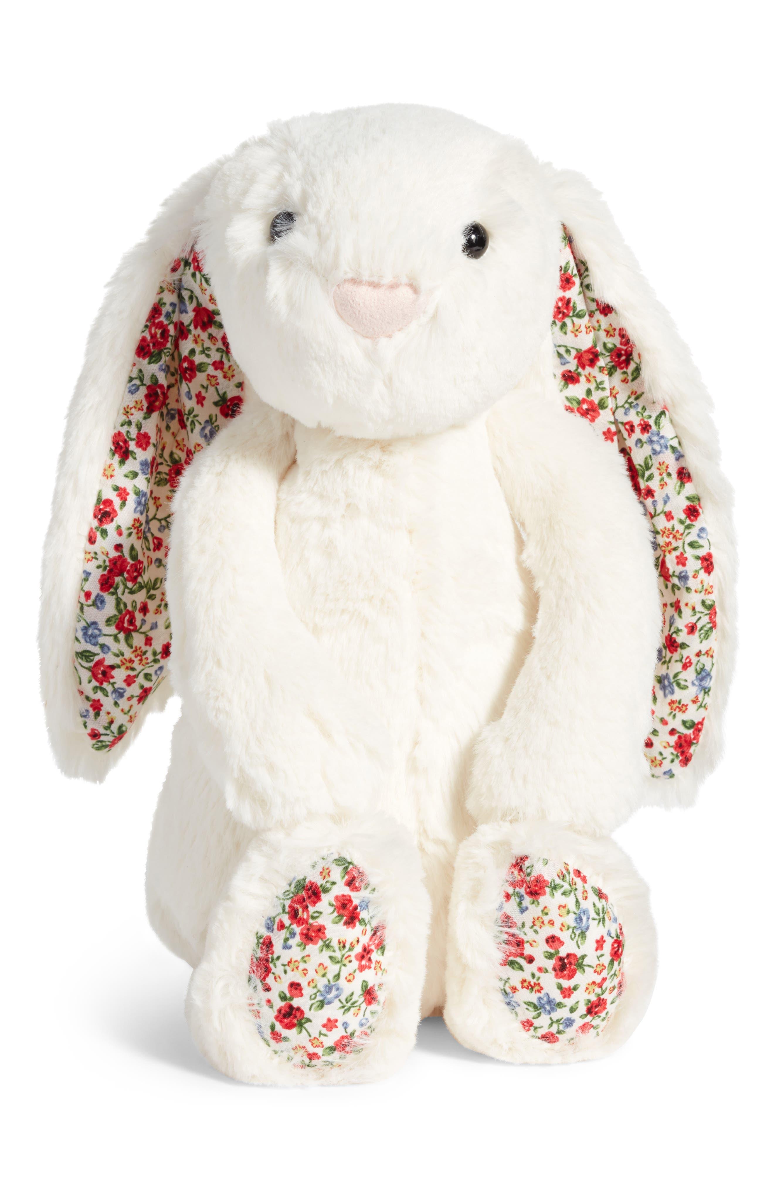 Blossom Lily Bunny Stuffed Animal,                         Main,                         color, Cream