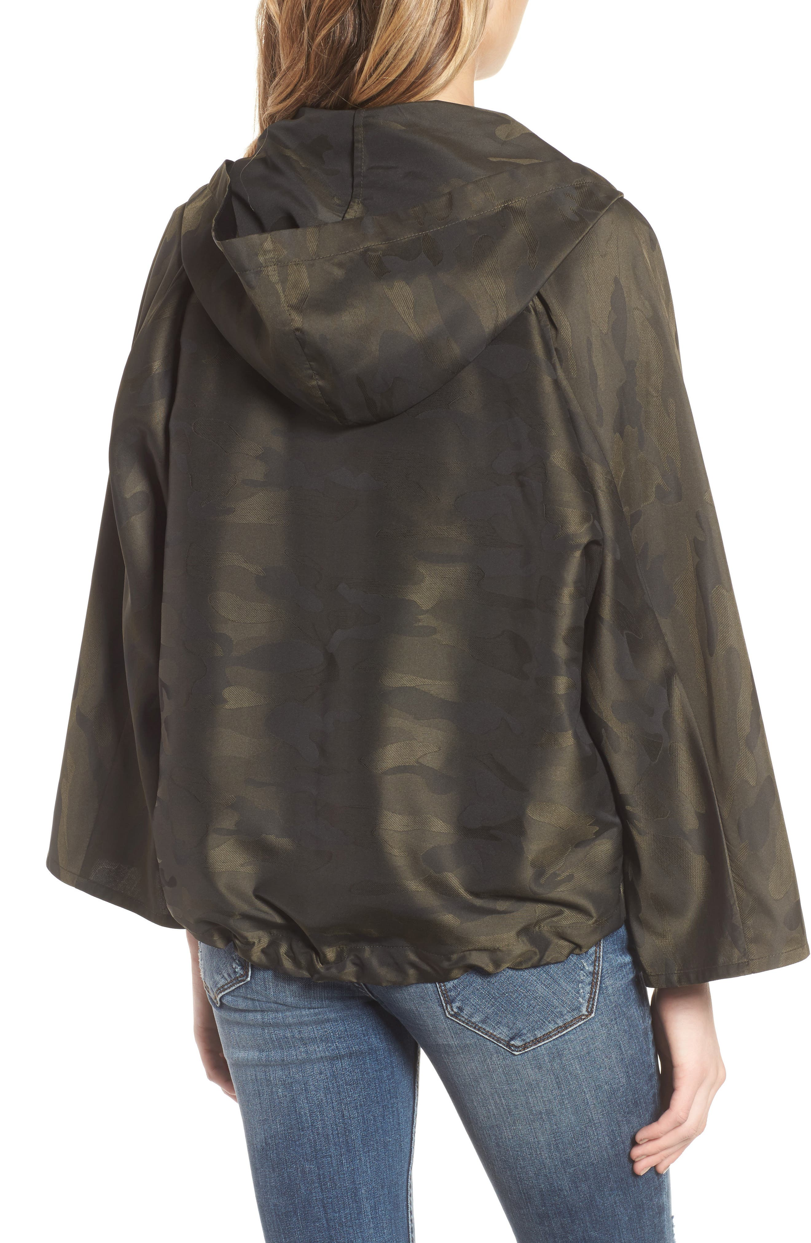 Camo We Not Bell Sleeve Jacket,                             Alternate thumbnail 2, color,                             Olive Camo